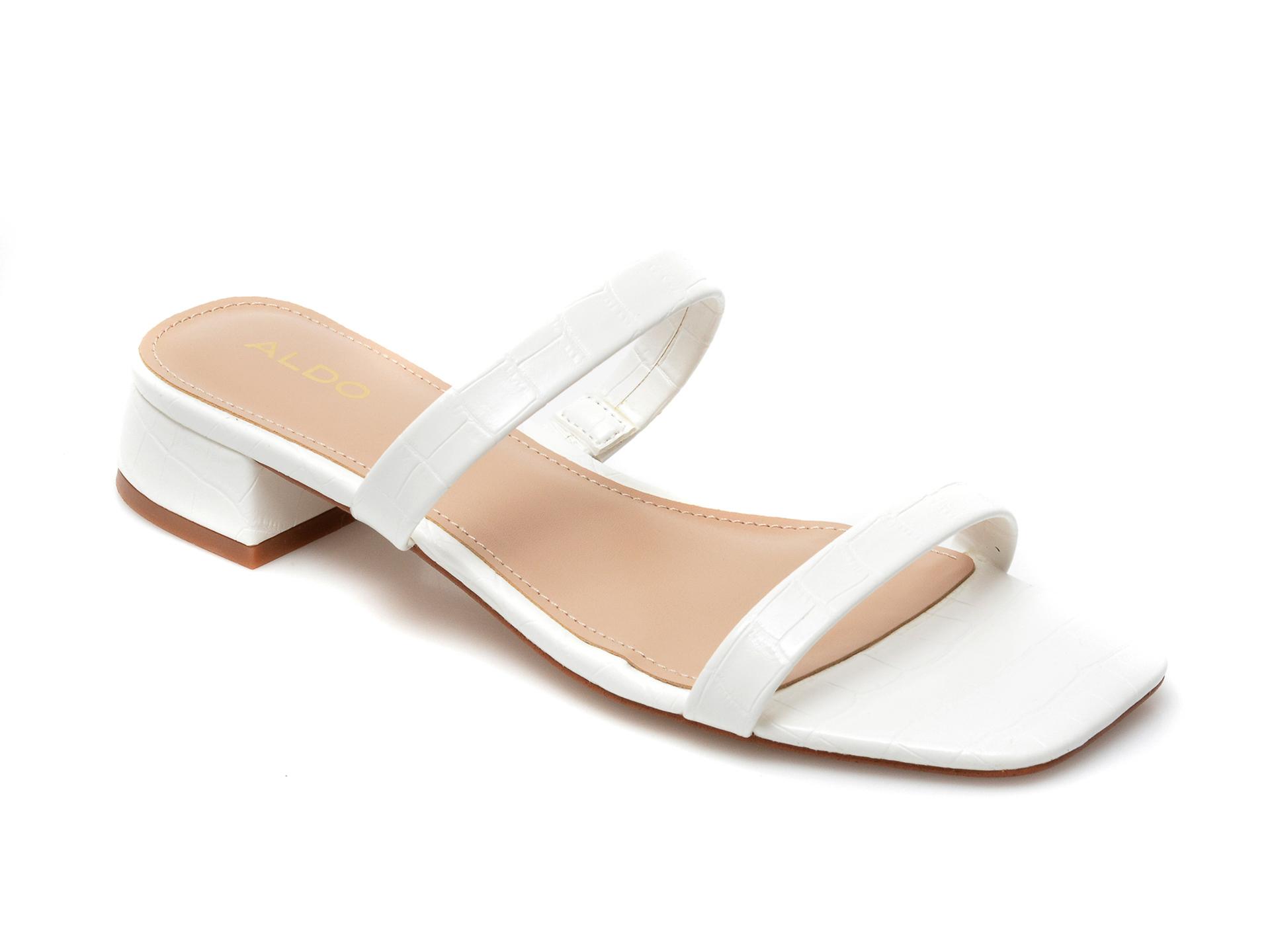 Papuci ALDO albe, Biliwen100, din piele ecologica imagine otter.ro 2021