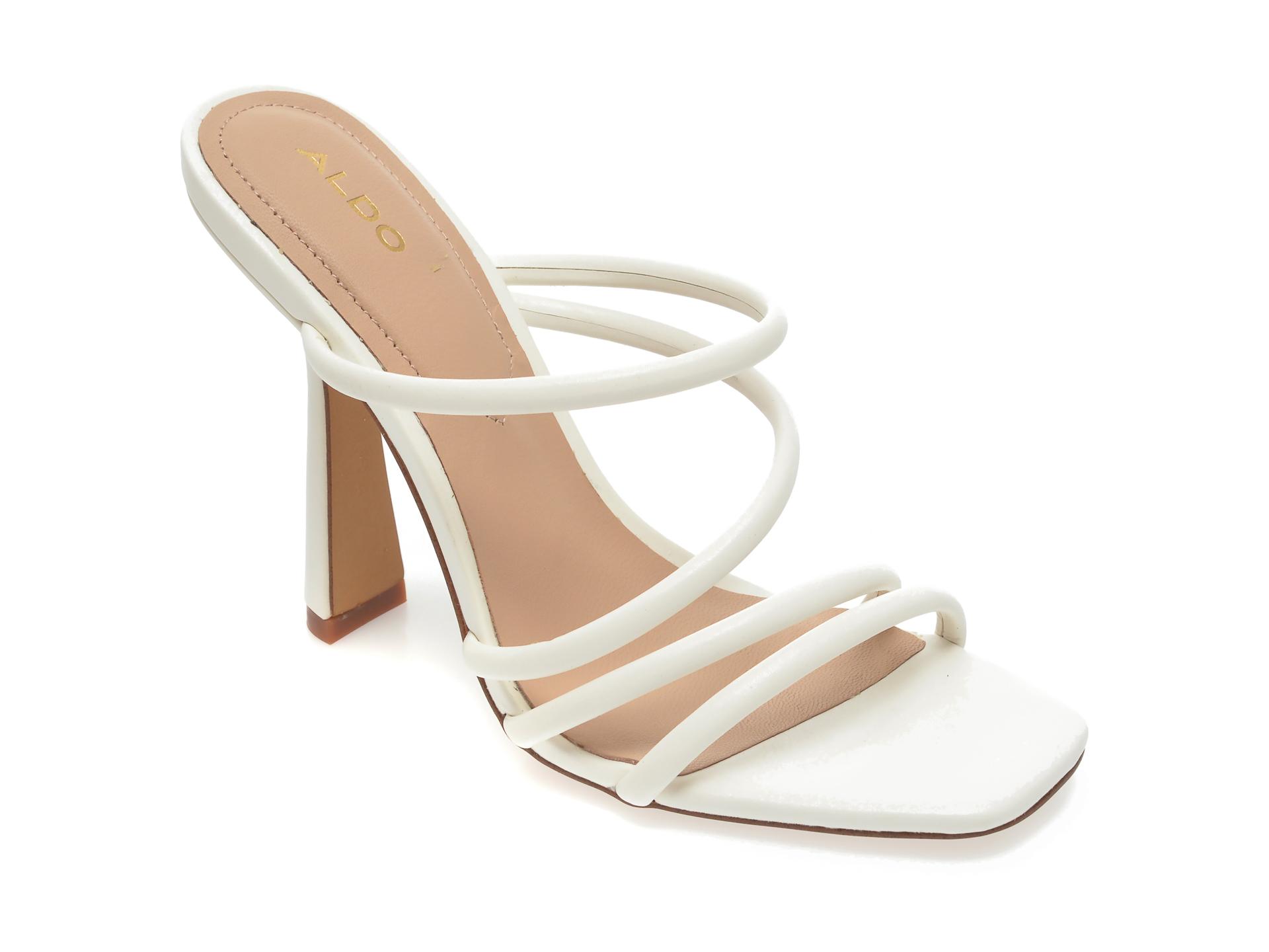 Papuci ALDO albi, Arianna100, din piele ecologica imagine otter.ro