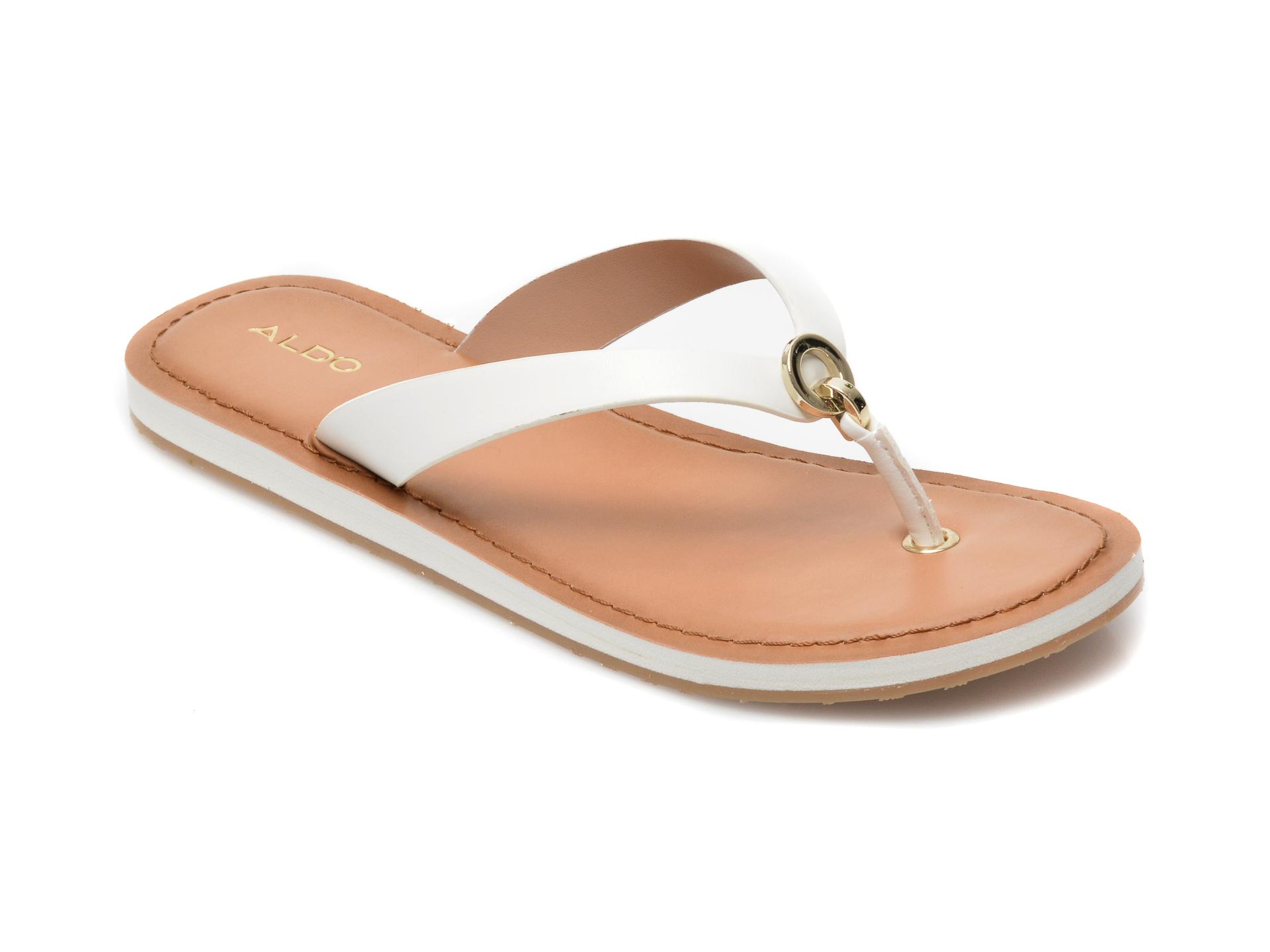 Papuci ALDO albi, Galalelian100, din piele ecologica imagine otter.ro 2021