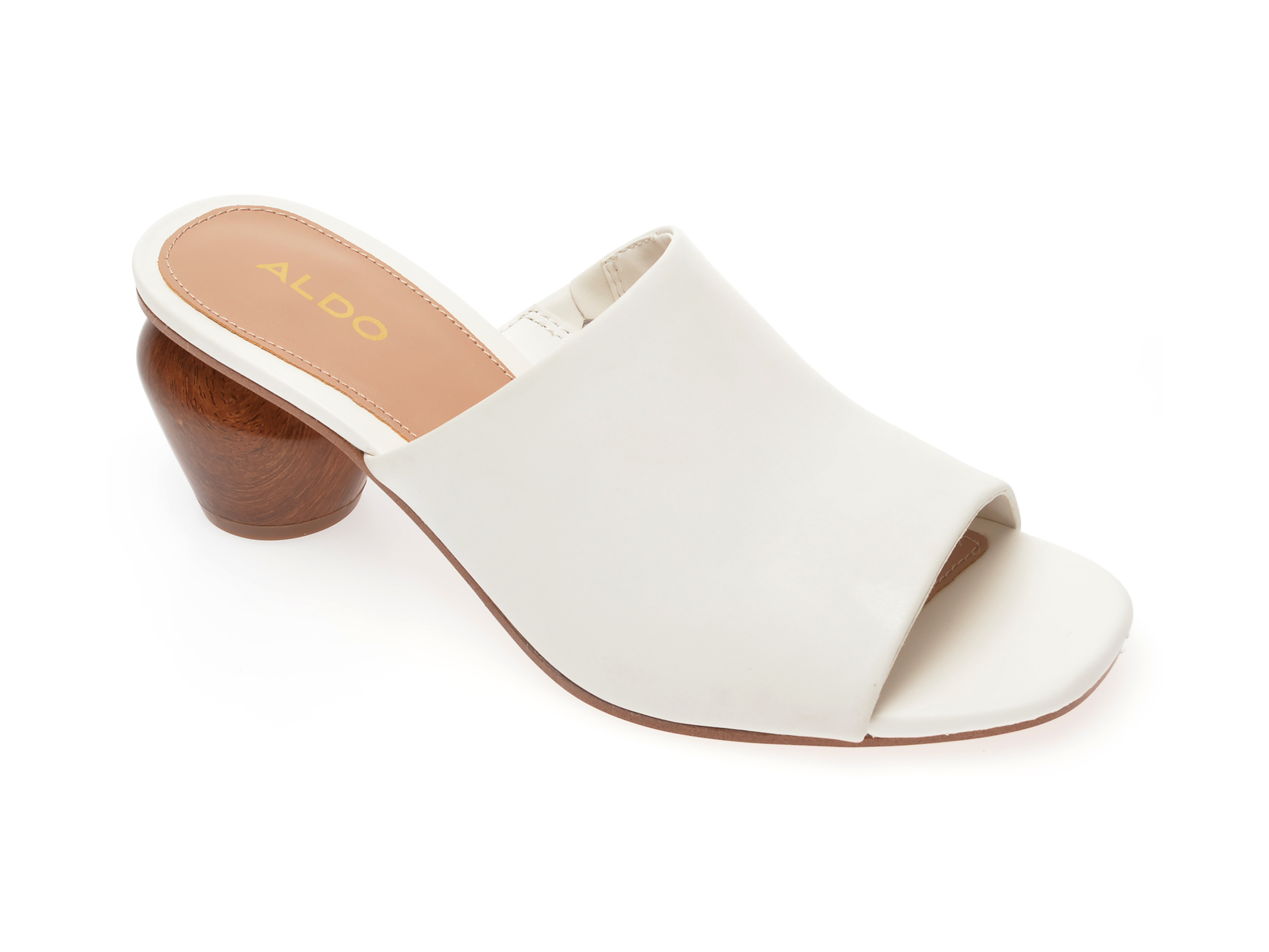 Papuci ALDO albi, Jamelle100, din piele naturala