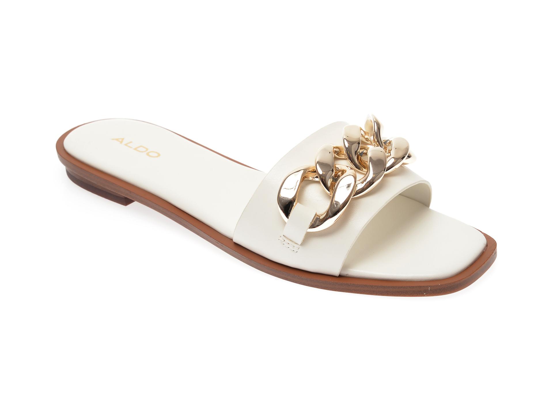 Papuci ALDO albi, Jubel100, din piele ecologica