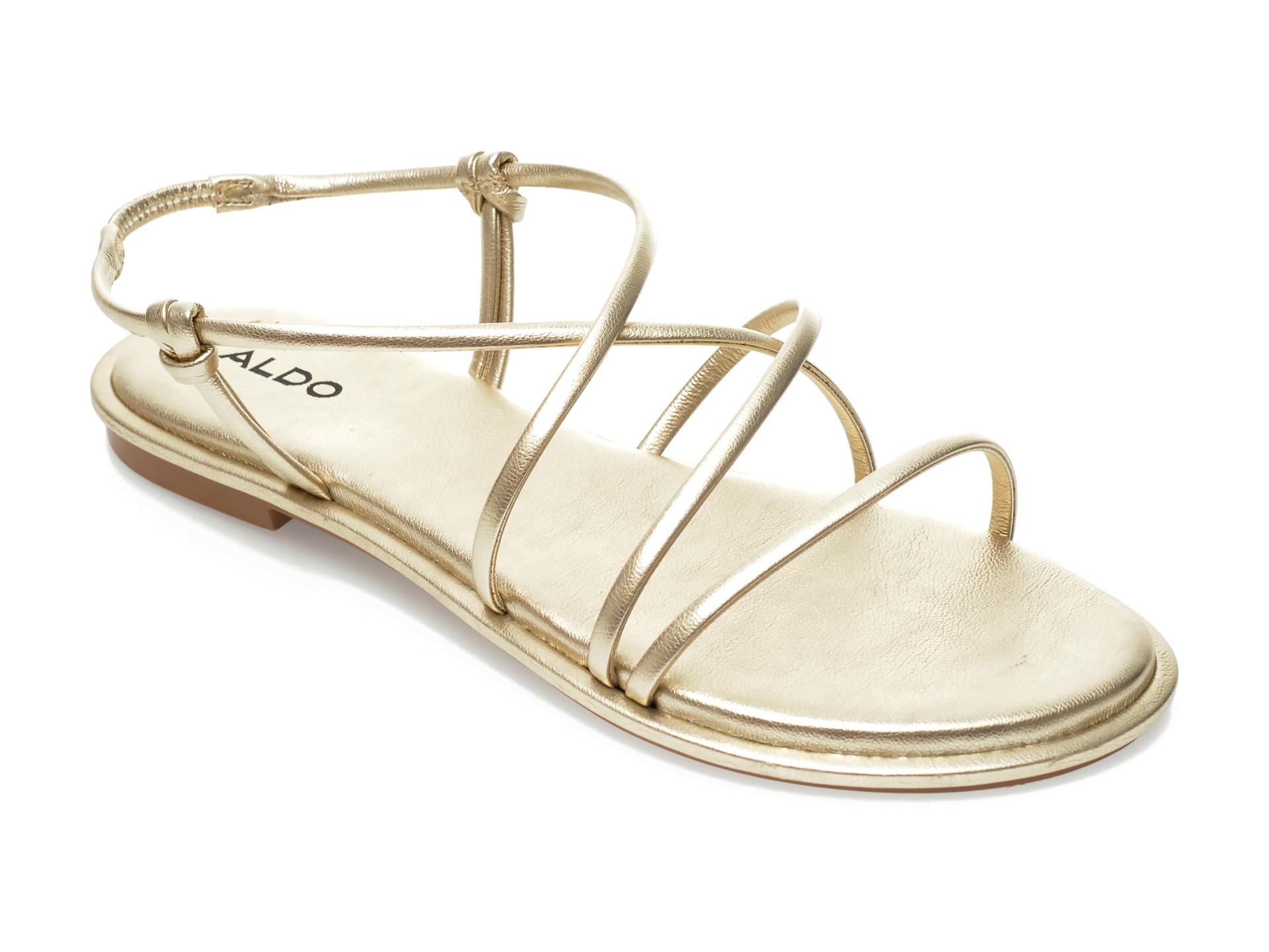 Papuci ALDO aurii, Kuerten710, din piele ecologica imagine otter.ro 2021