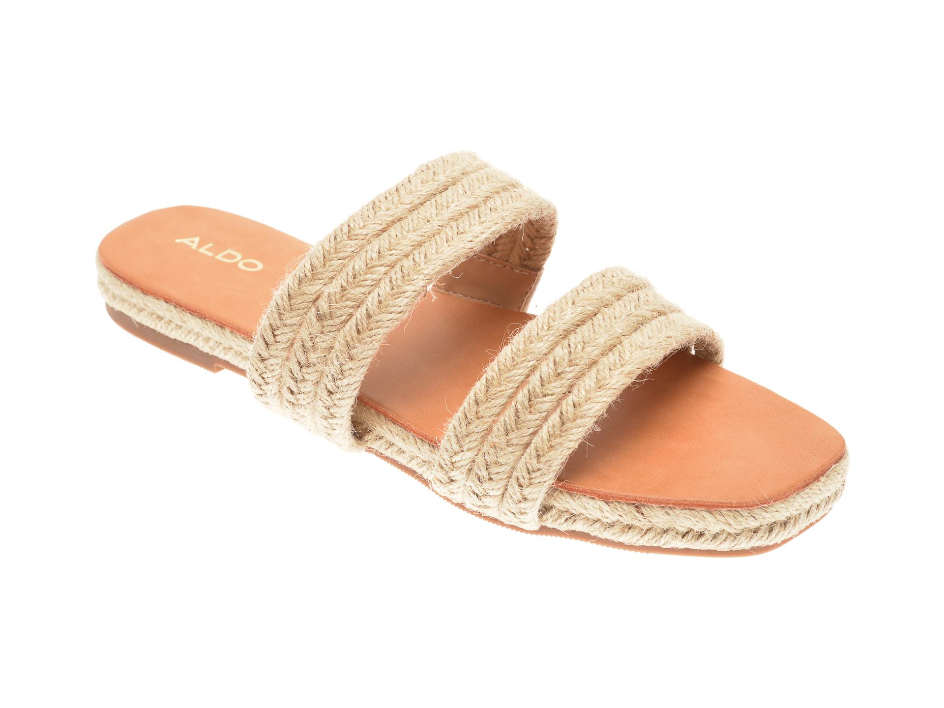 Papuci ALDO bej, Bistra101, din material textil