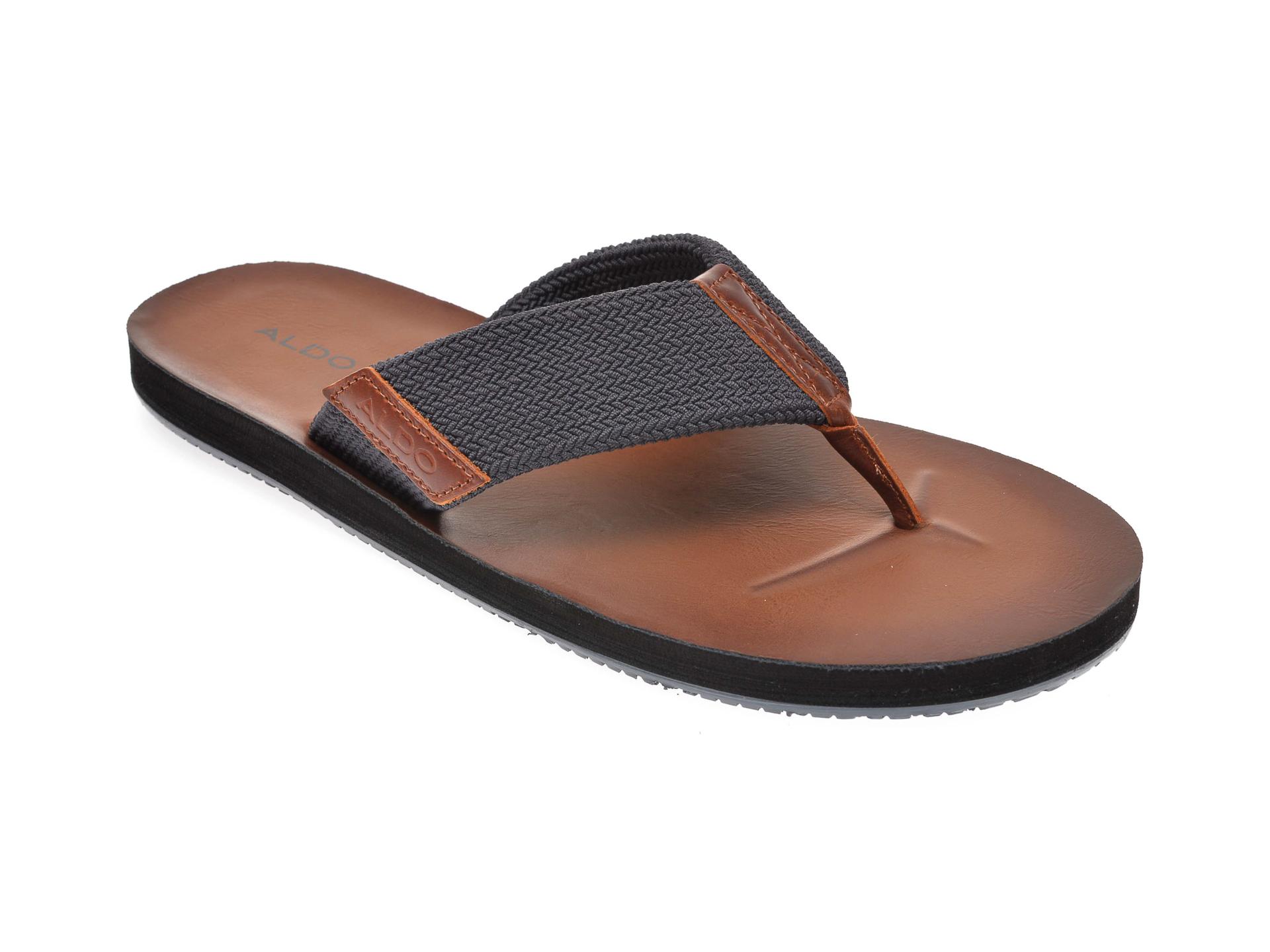Papuci ALDO bleumarin, Moraunt410, din material textil imagine