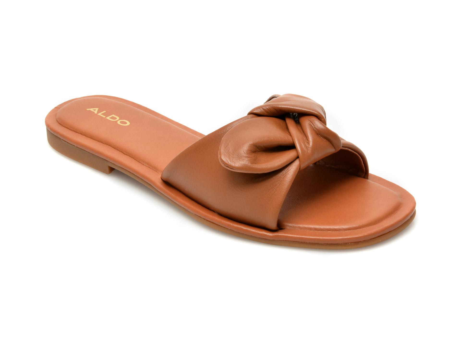 Papuci ALDO maro, 13191065, din piele naturala imagine otter.ro