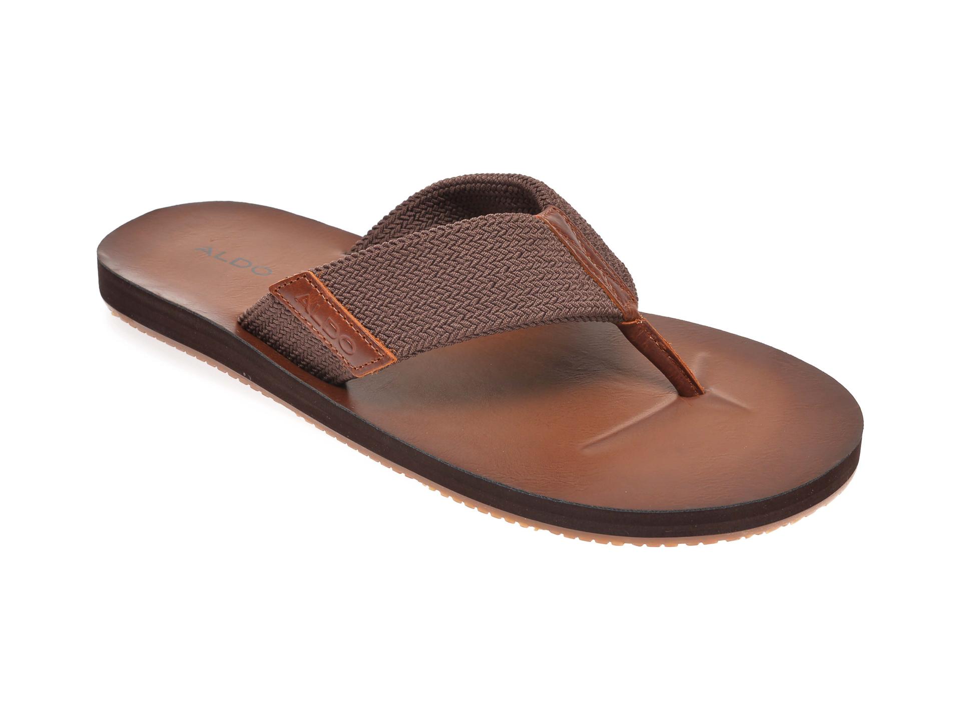 Papuci ALDO maro, Moraunt201, din material textil imagine