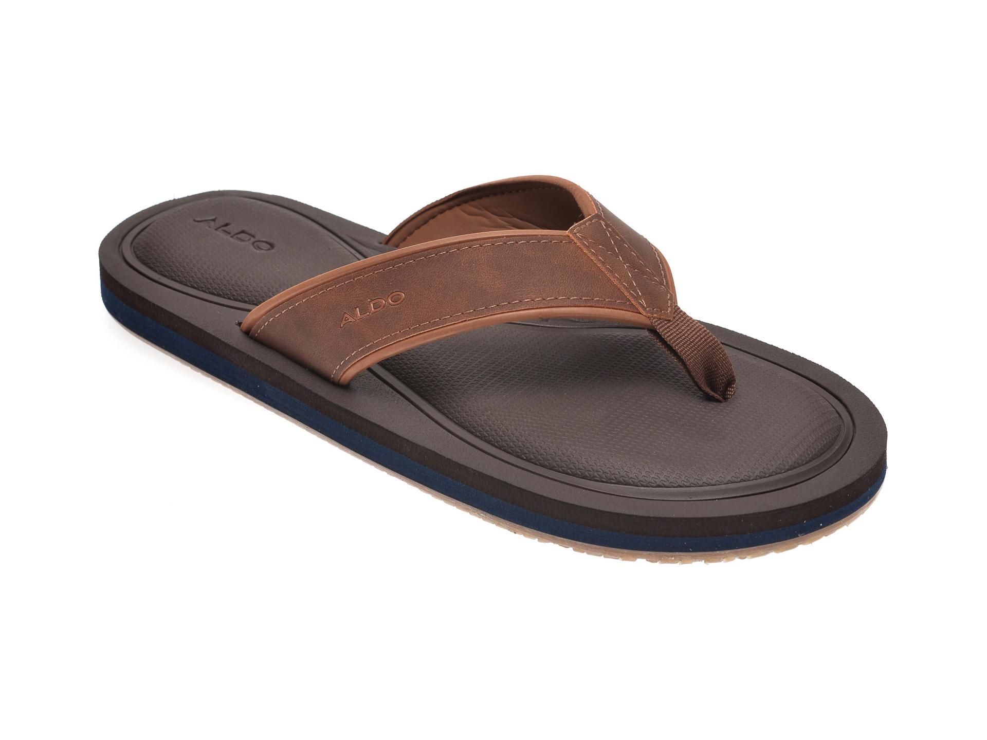 Papuci ALDO maro, Norewiel221, din piele ecologica imagine