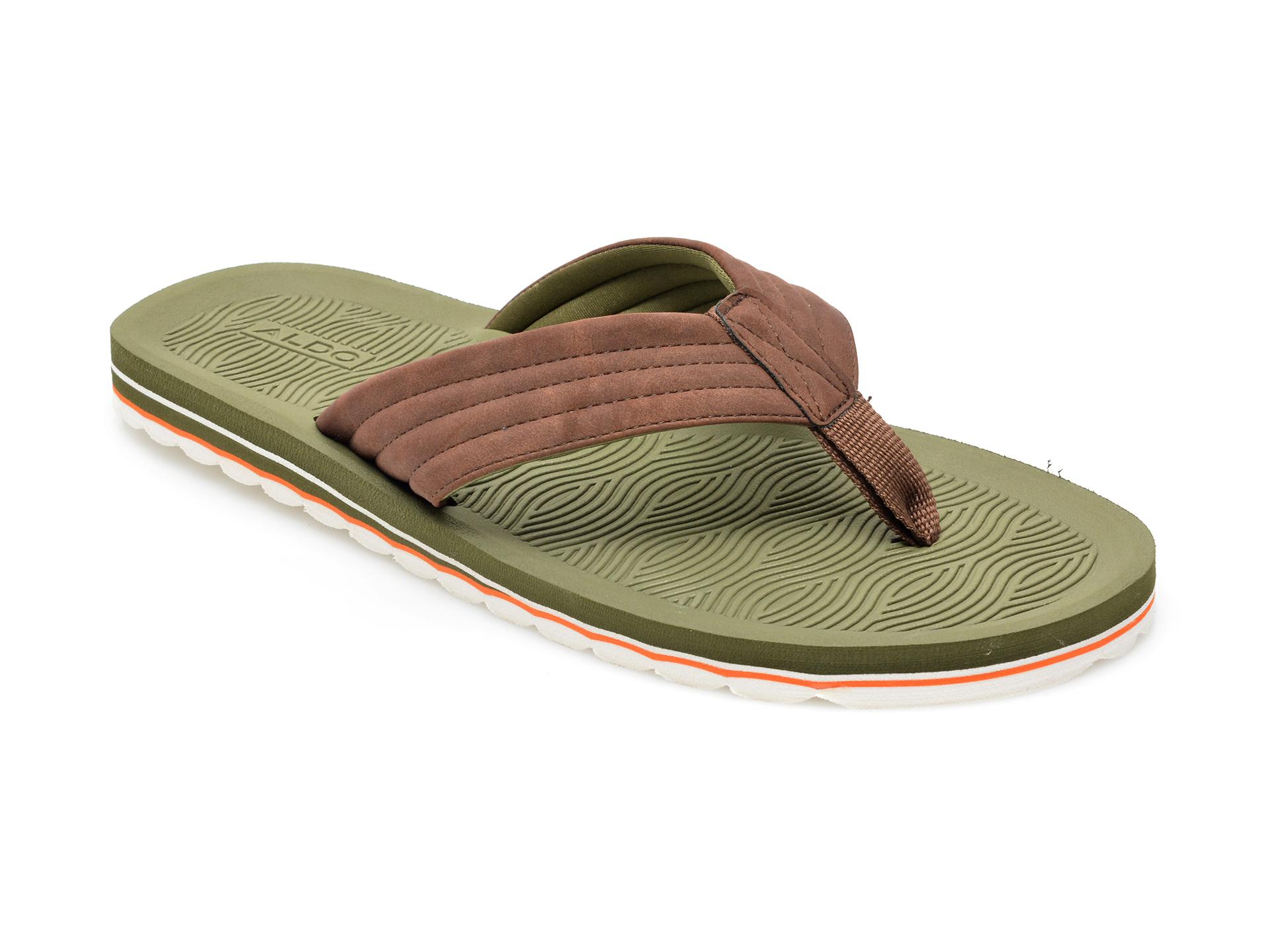 Papuci ALDO maro, Proicien220, din piele ecologica