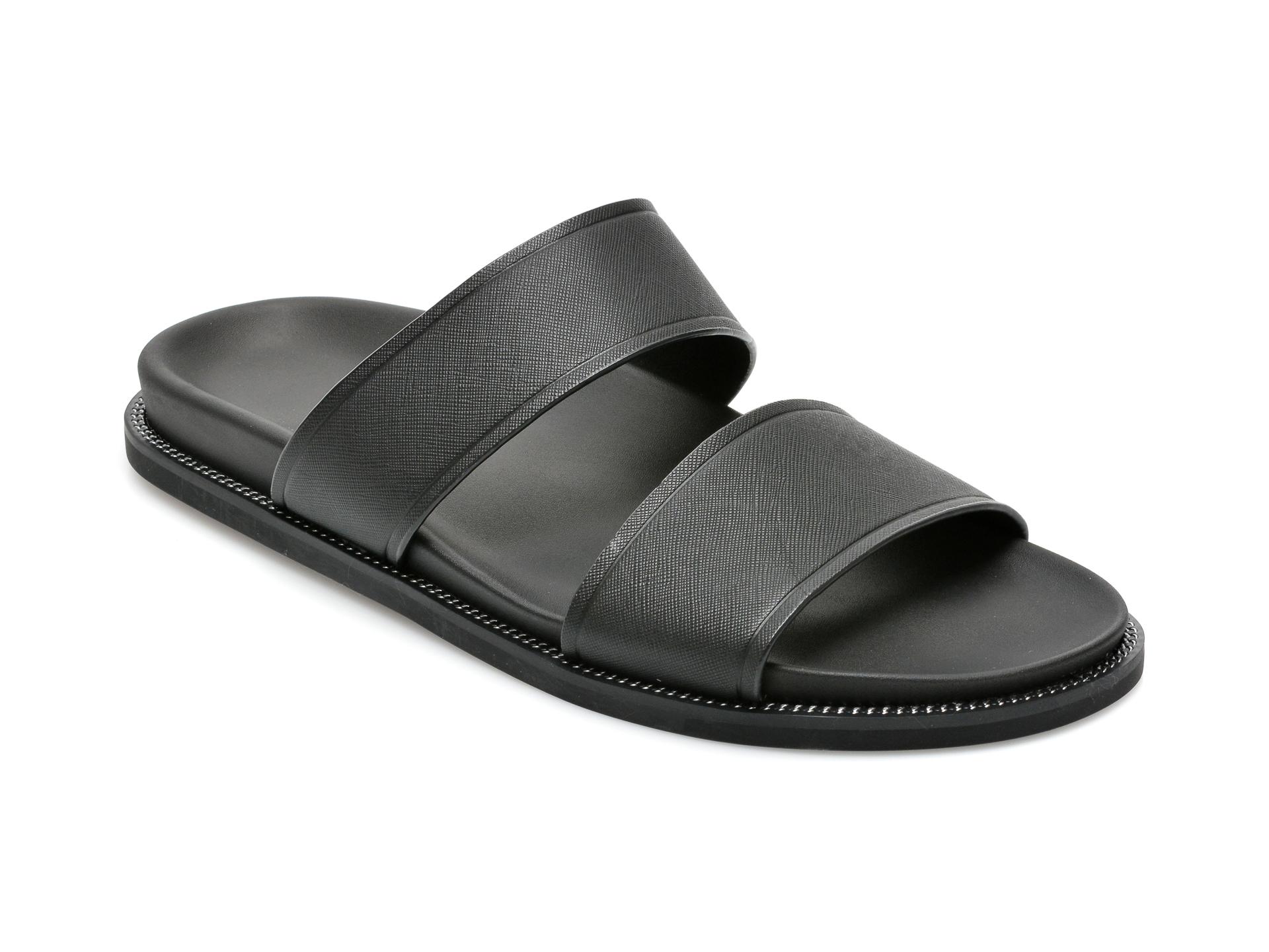 Papuci ALDO negre, Jivan004, din piele naturala