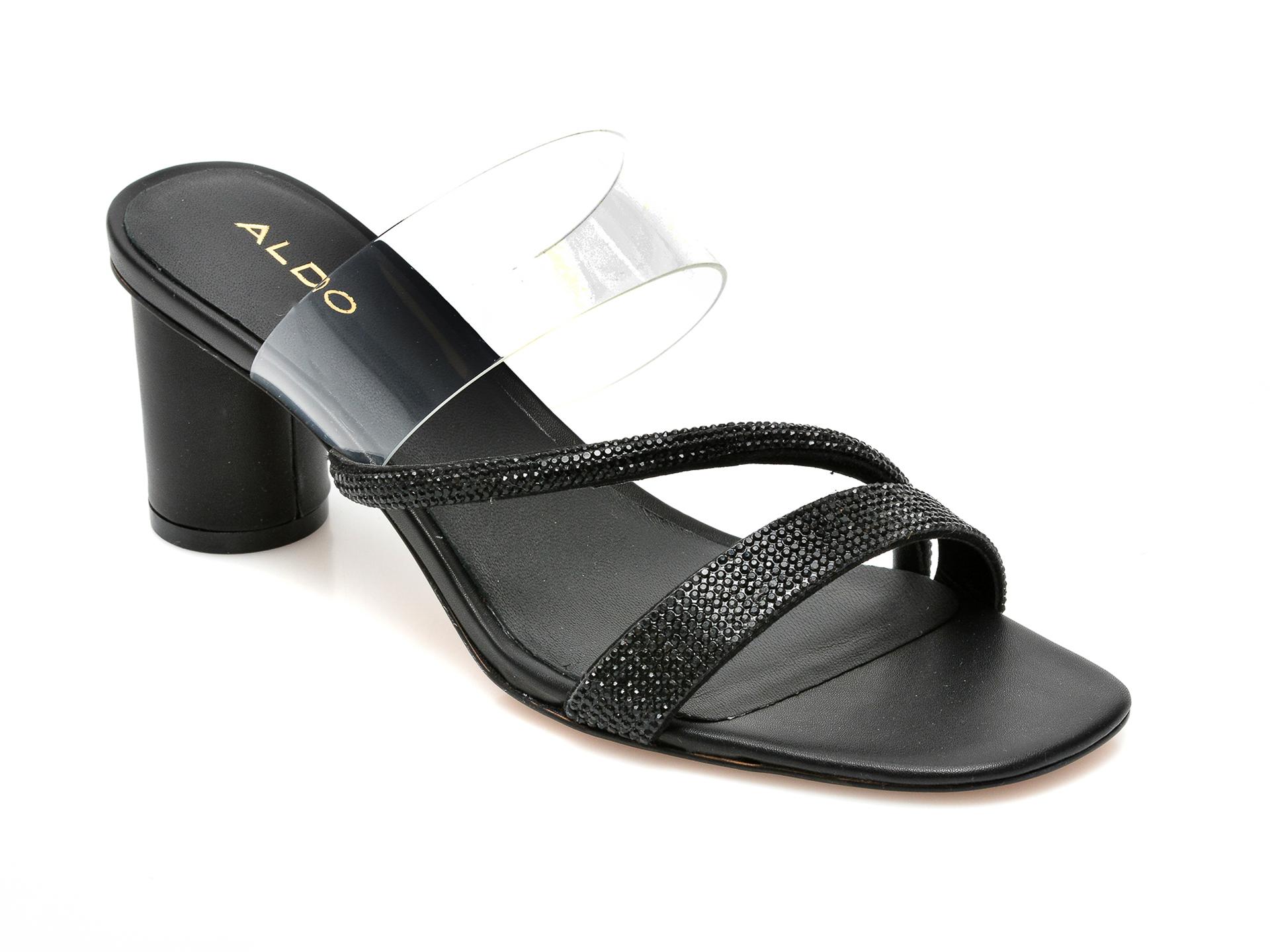 Papuci ALDO negre, Muralis001, din piele ecologica imagine otter.ro 2021