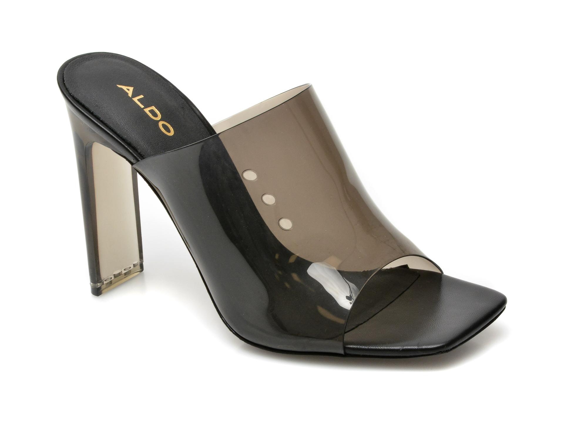 Papuci ALDO negre, Ybendaviel001, din pvc