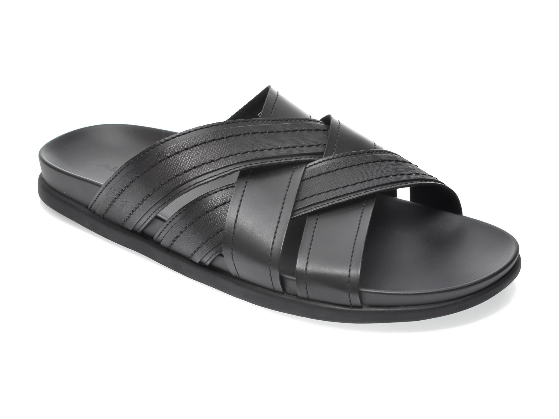 Papuci ALDO negri, Afadode001, din piele naturala imagine