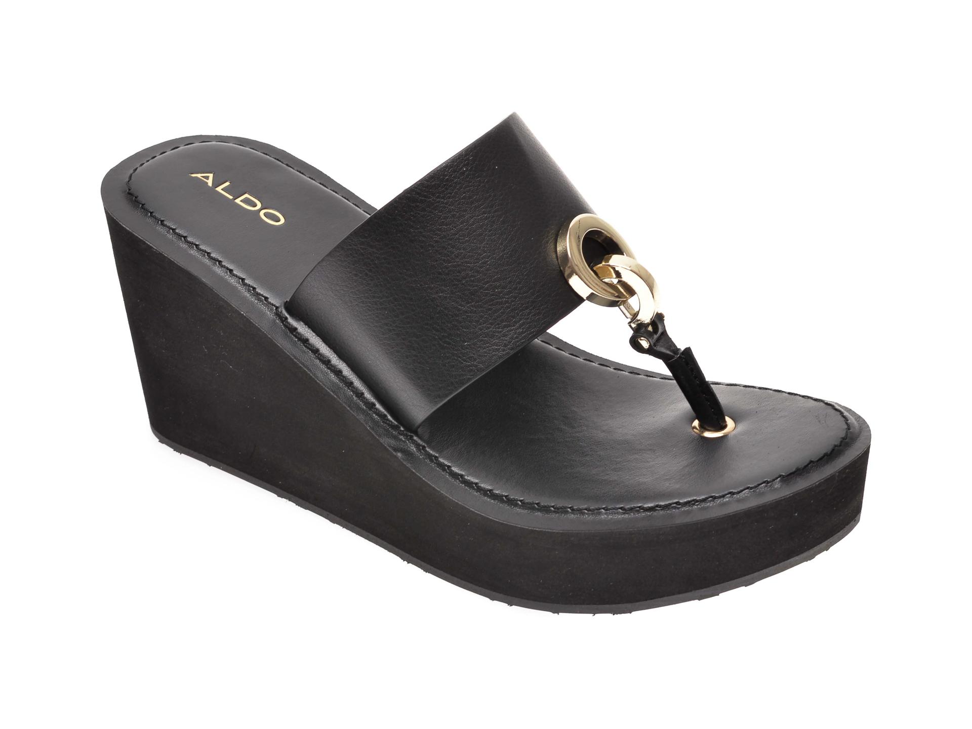 Papuci ALDO negri, Dreamer001, din piele ecologica