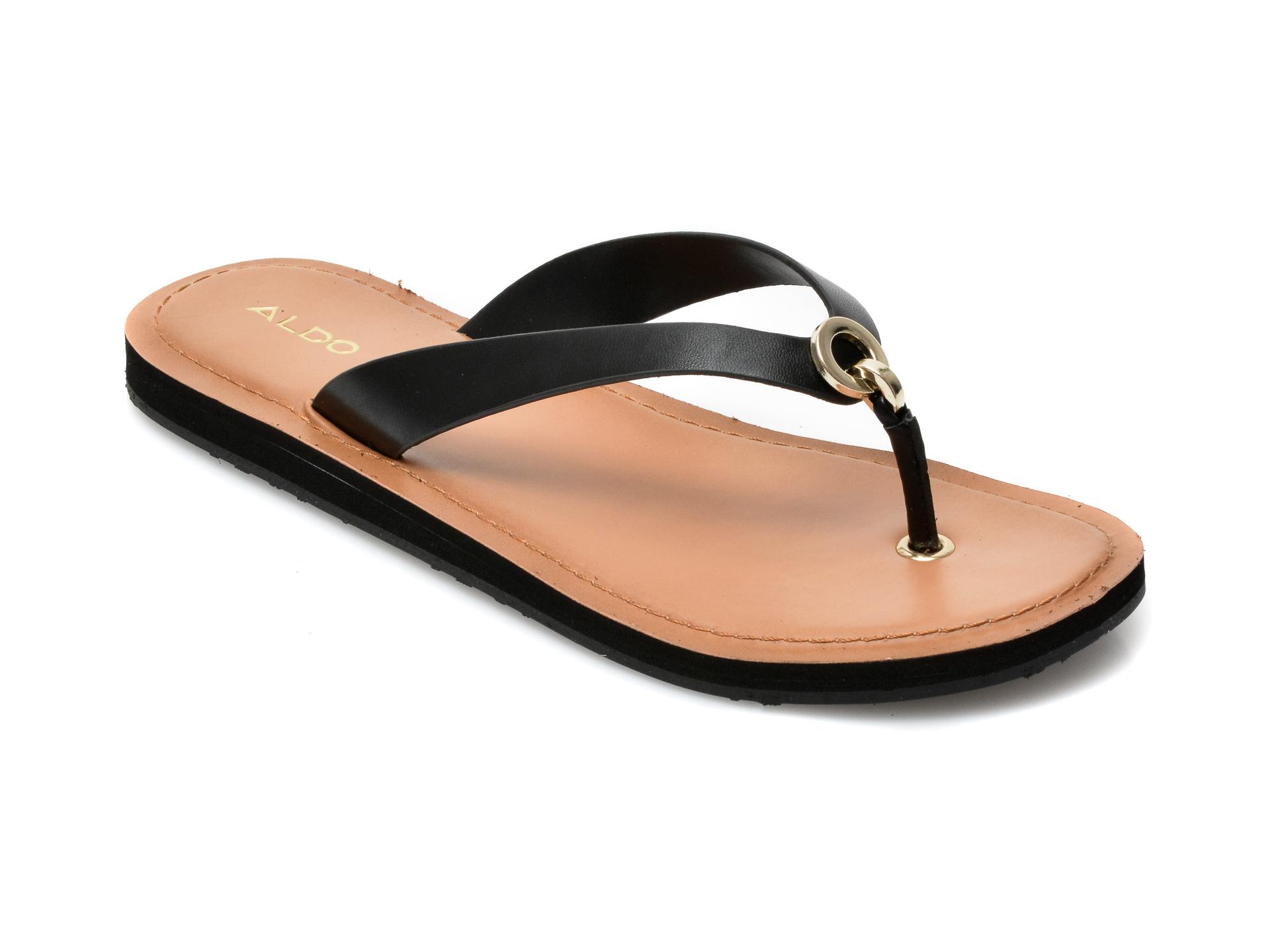 Papuci ALDO negri, Galalelian001, din piele ecologica imagine otter.ro 2021