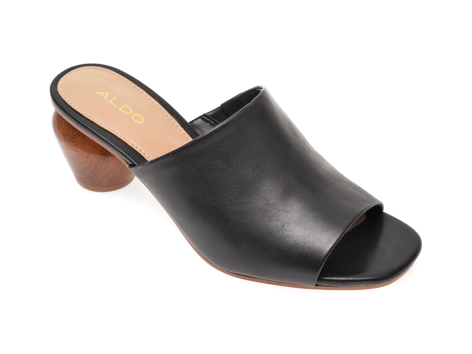 Papuci ALDO negri, Jamelle001, din piele naturala