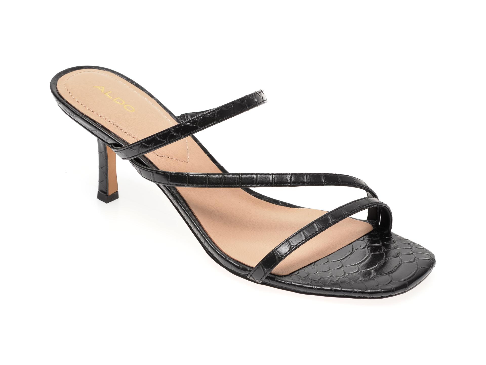 Papuci ALDO negri, Kaeidia001, din piele ecologica