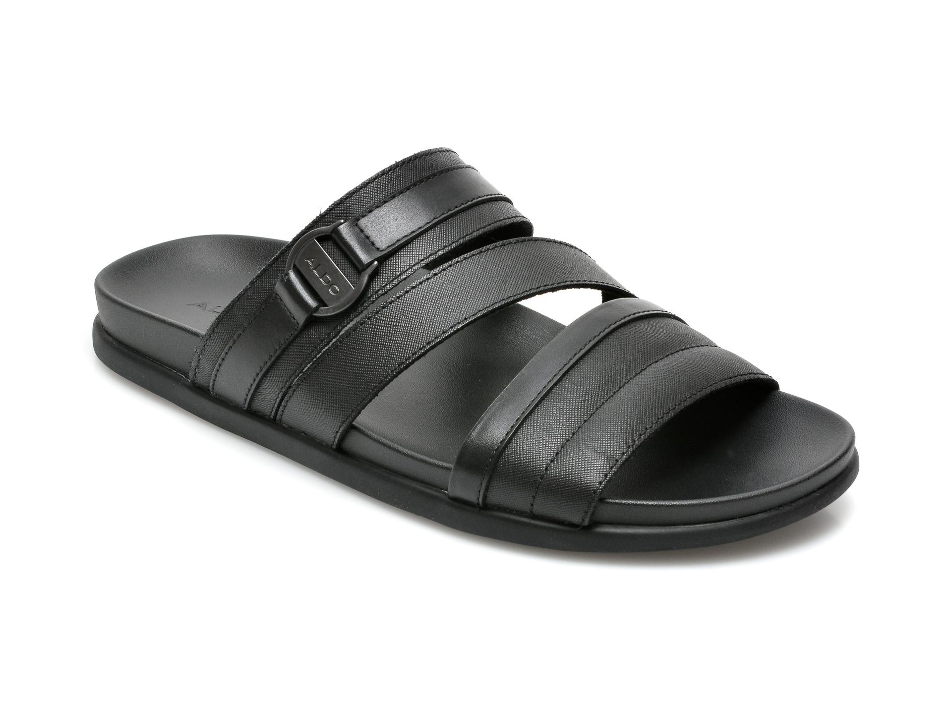 Papuci ALDO negri, Mirerasien001, din piele naturala