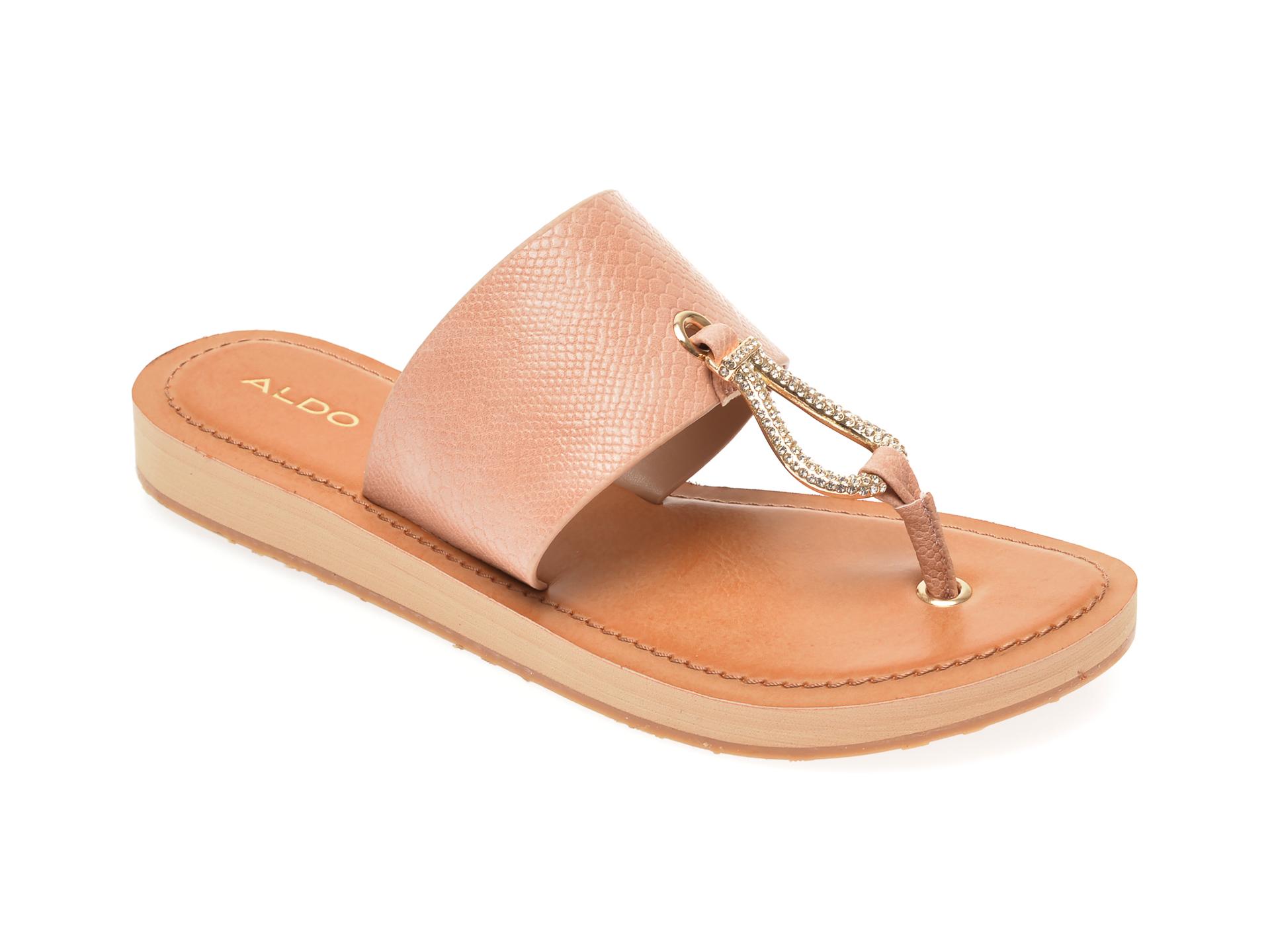 Papuci ALDO nude, Perry270, din piele ecologica