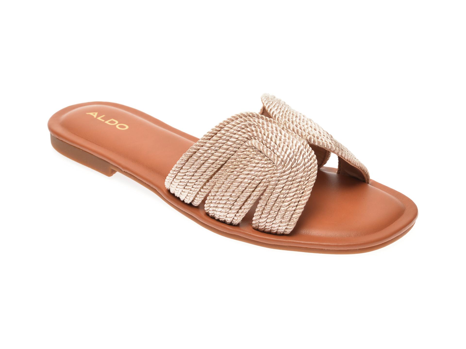 Papuci ALDO nude, Starlight270, din material textil imagine otter.ro