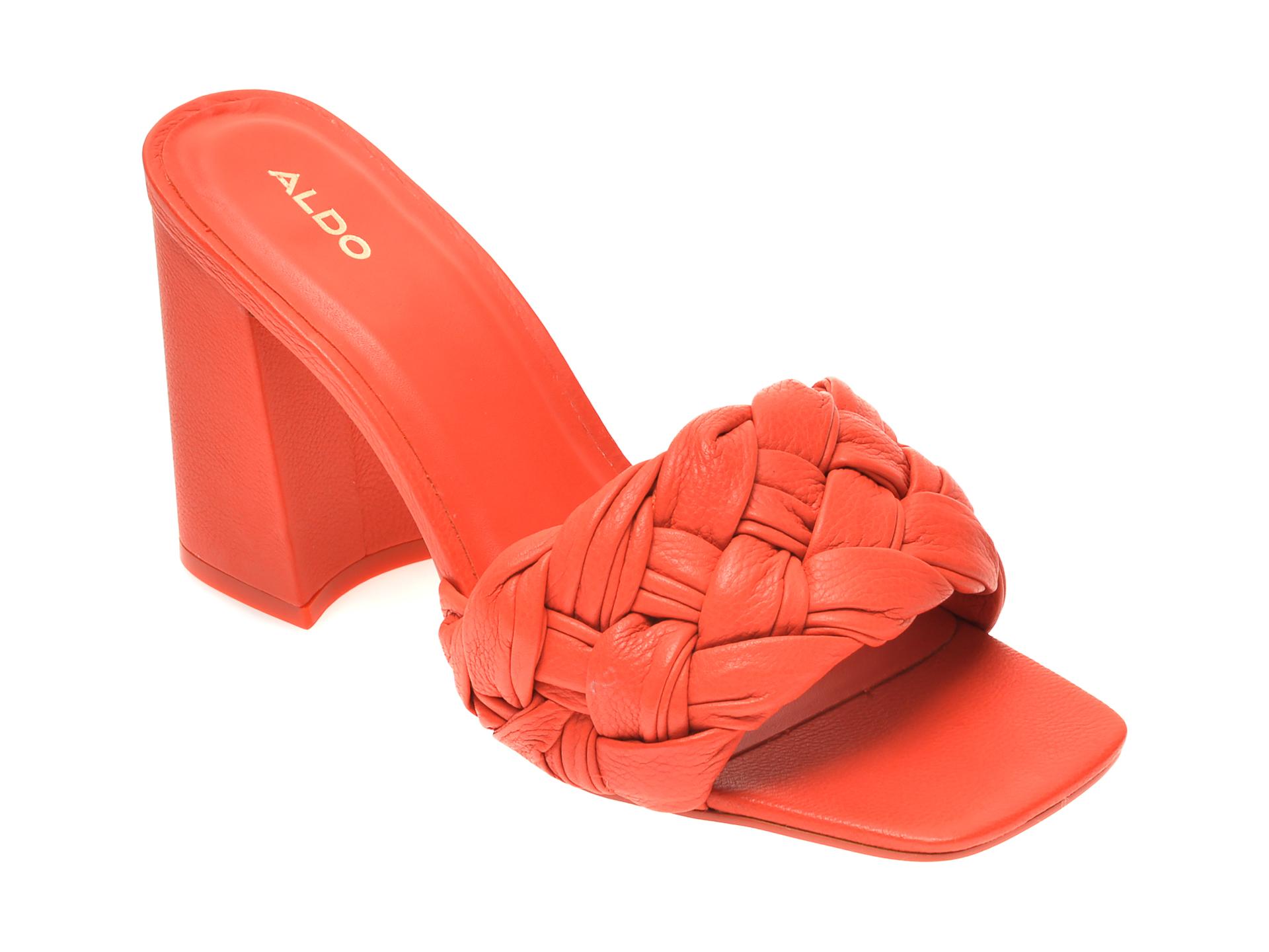 Papuci ALDO portocalii, Blakely820, din piele naturala