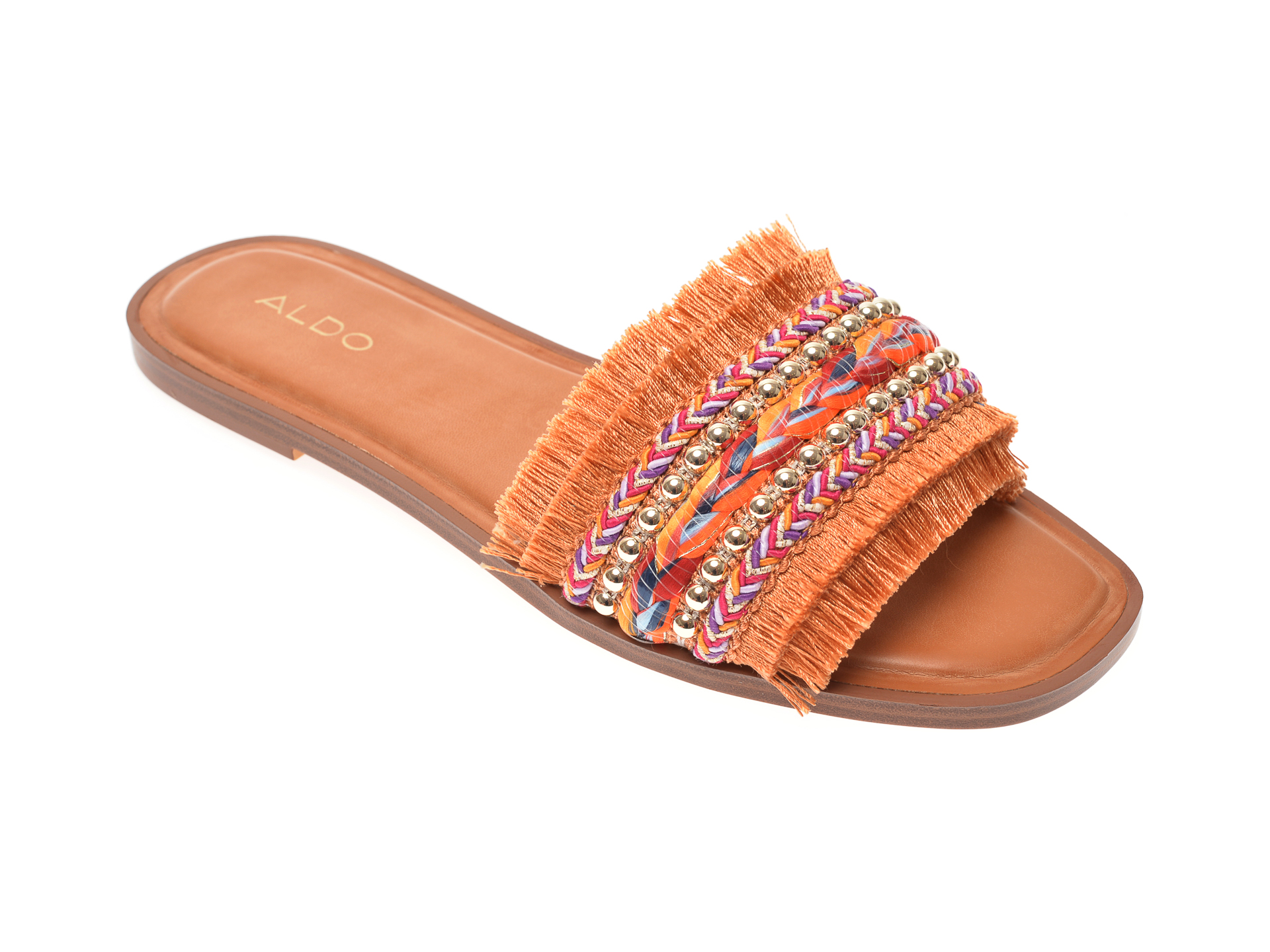 Papuci ALDO portocalii, Rockyy840, din material textil New