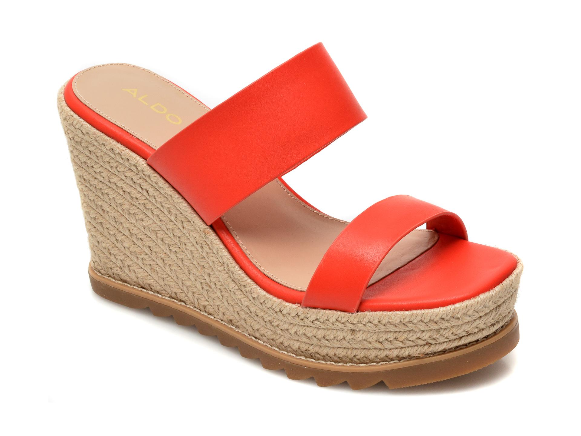 Papuci ALDO rosii, Agraerith800, din piele naturala