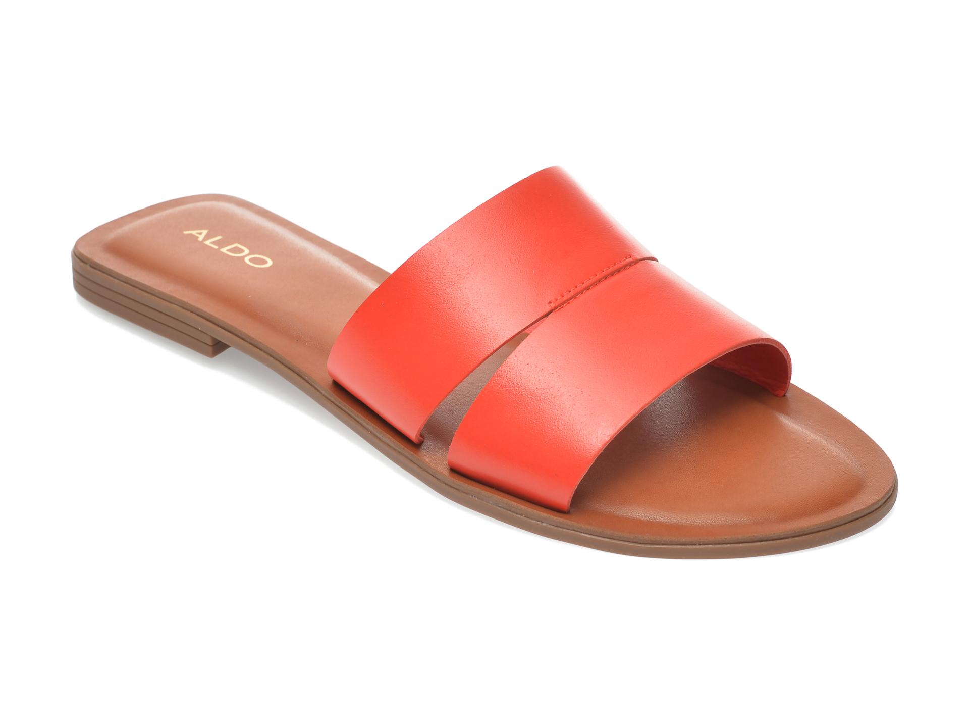 Papuci ALDO rosii, Andonia600, din piele naturala New