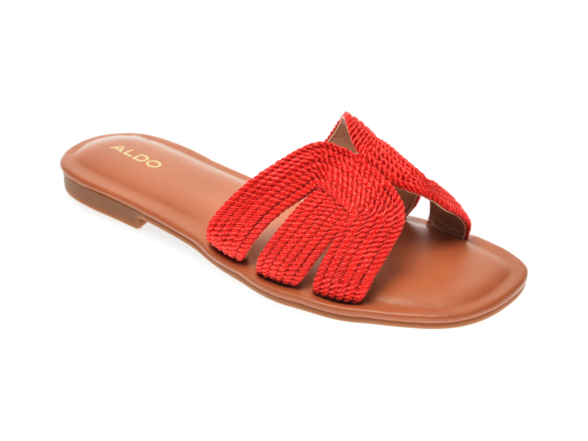 Papuci ALDO rosii, Starlight600, din material textil