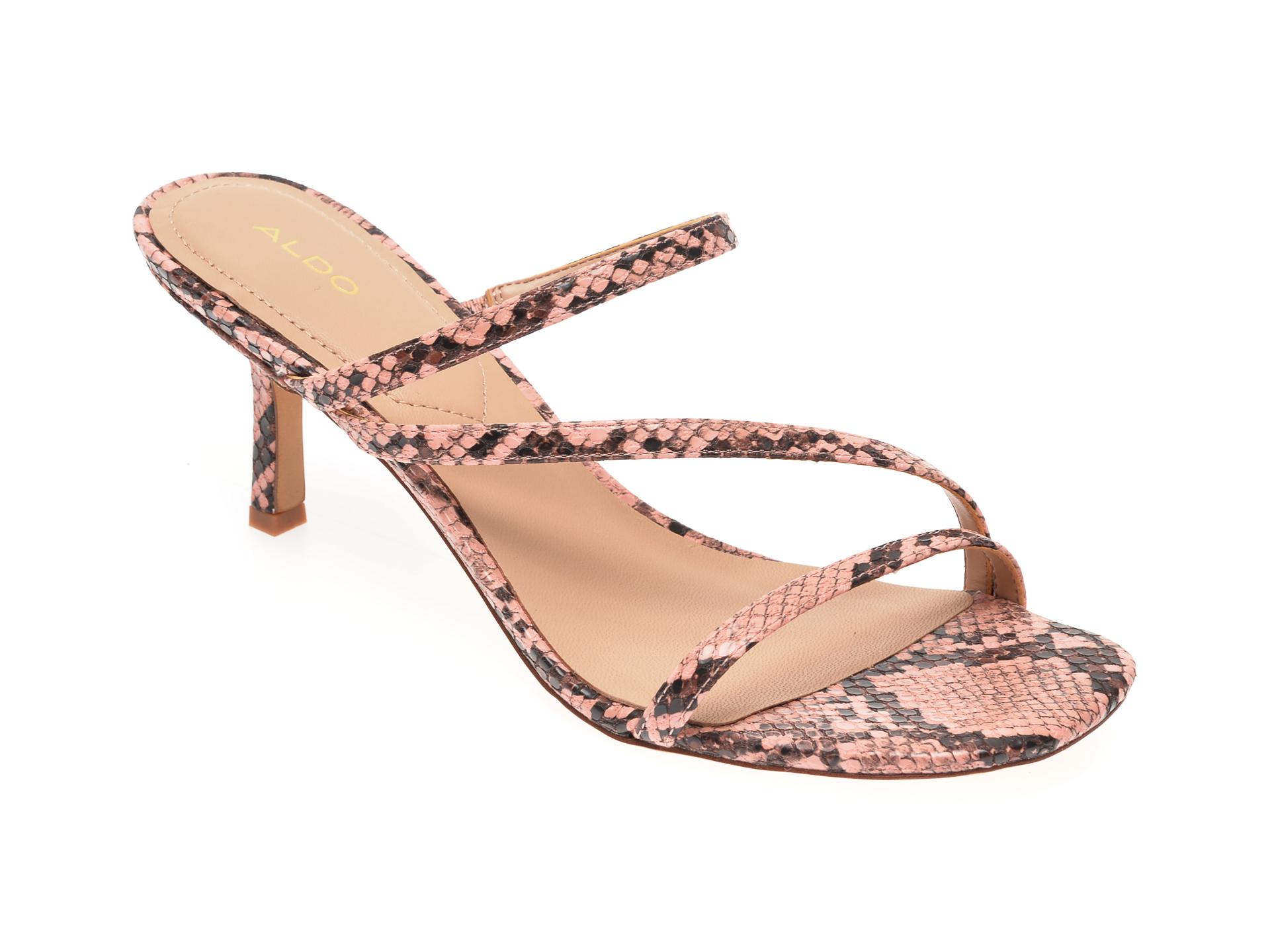 Papuci ALDO roz, Kaeidia650, din piele ecologica