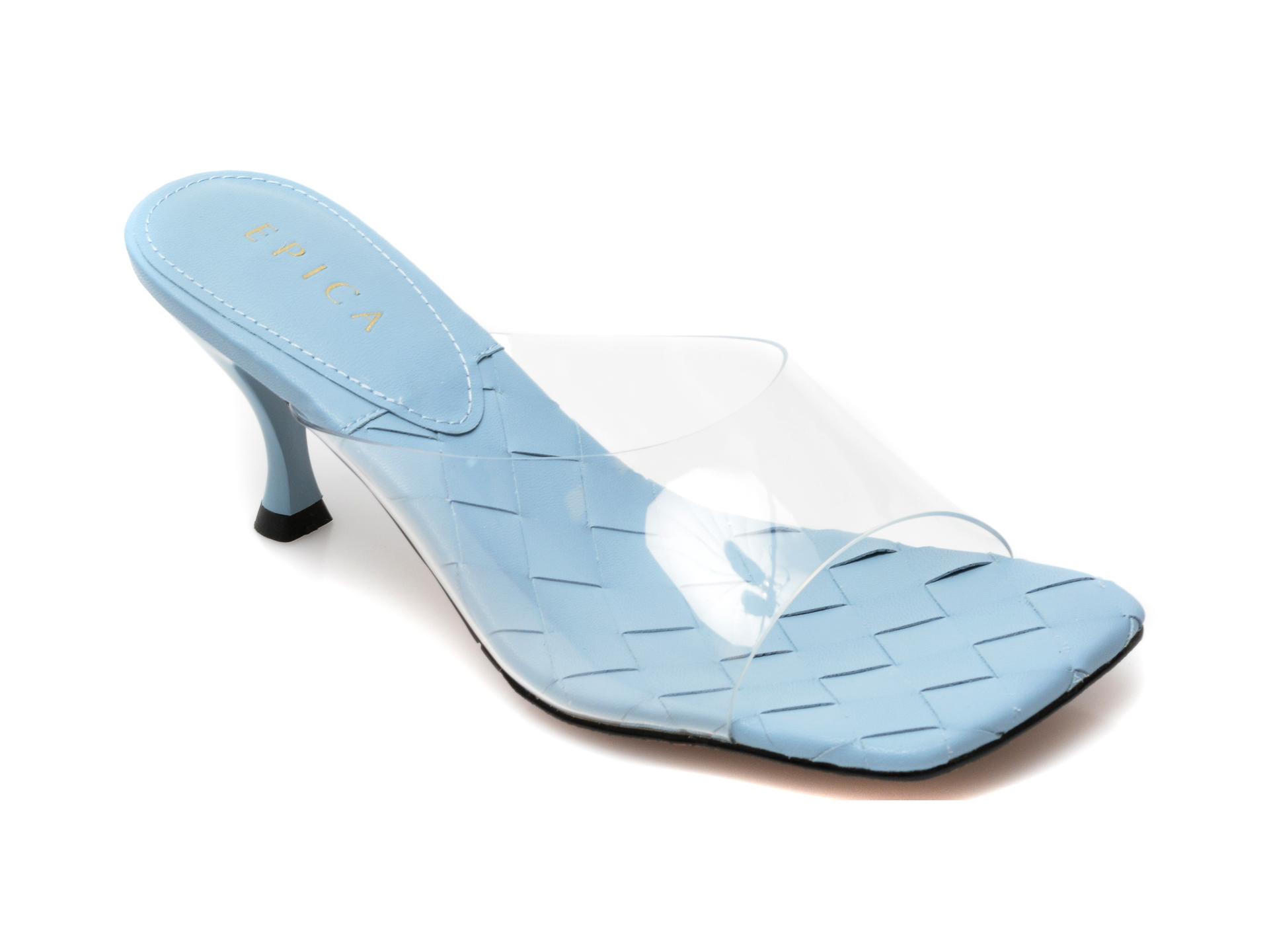 Papuci EPICA albastri, L302D62, din pvc imagine otter.ro 2021