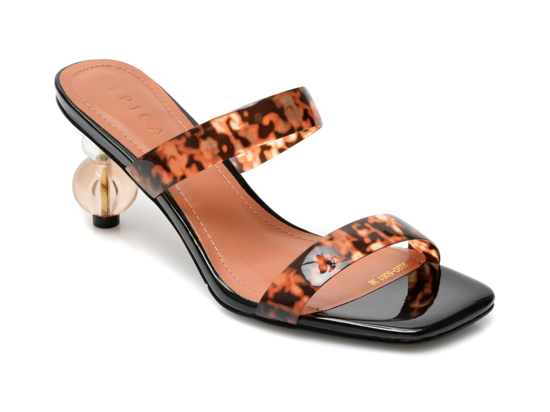 Papuci EPICA maro, 1020606, din pvc imagine otter.ro 2021