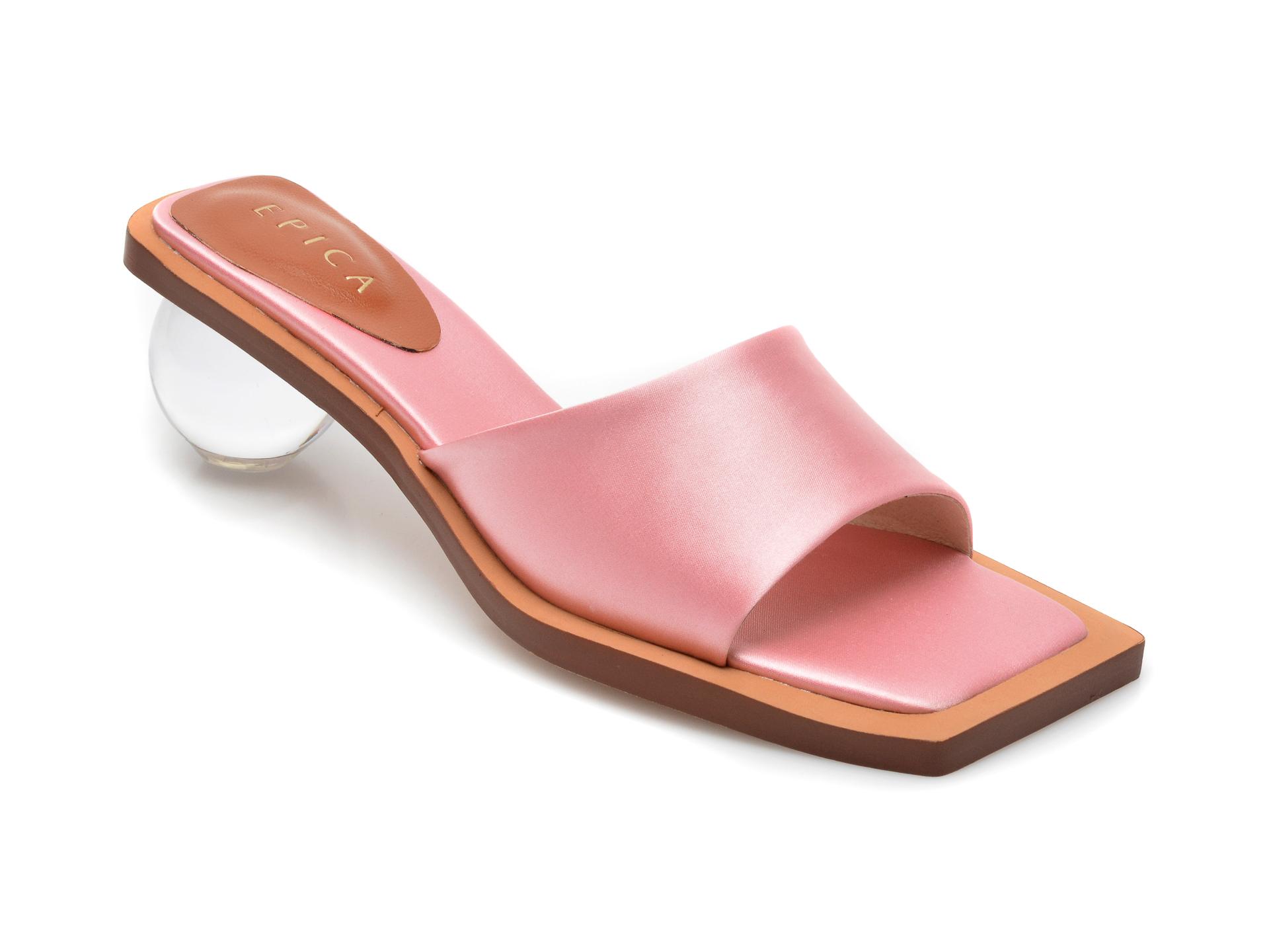 Papuci EPICA roz, L306D62, din material textil imagine otter.ro 2021