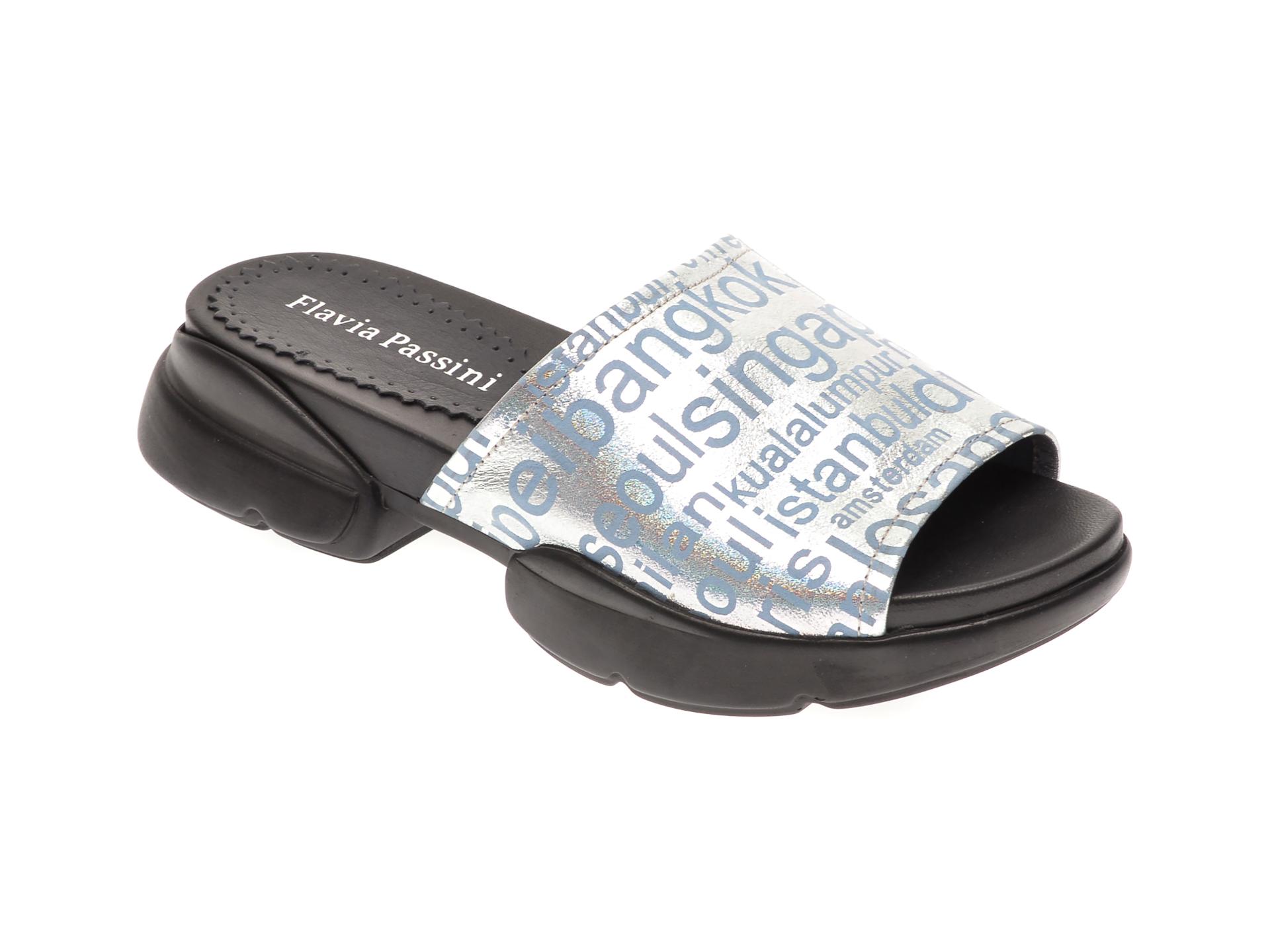 Papuci FLAVIA PASSINI albastri, 1182535, din piele naturala