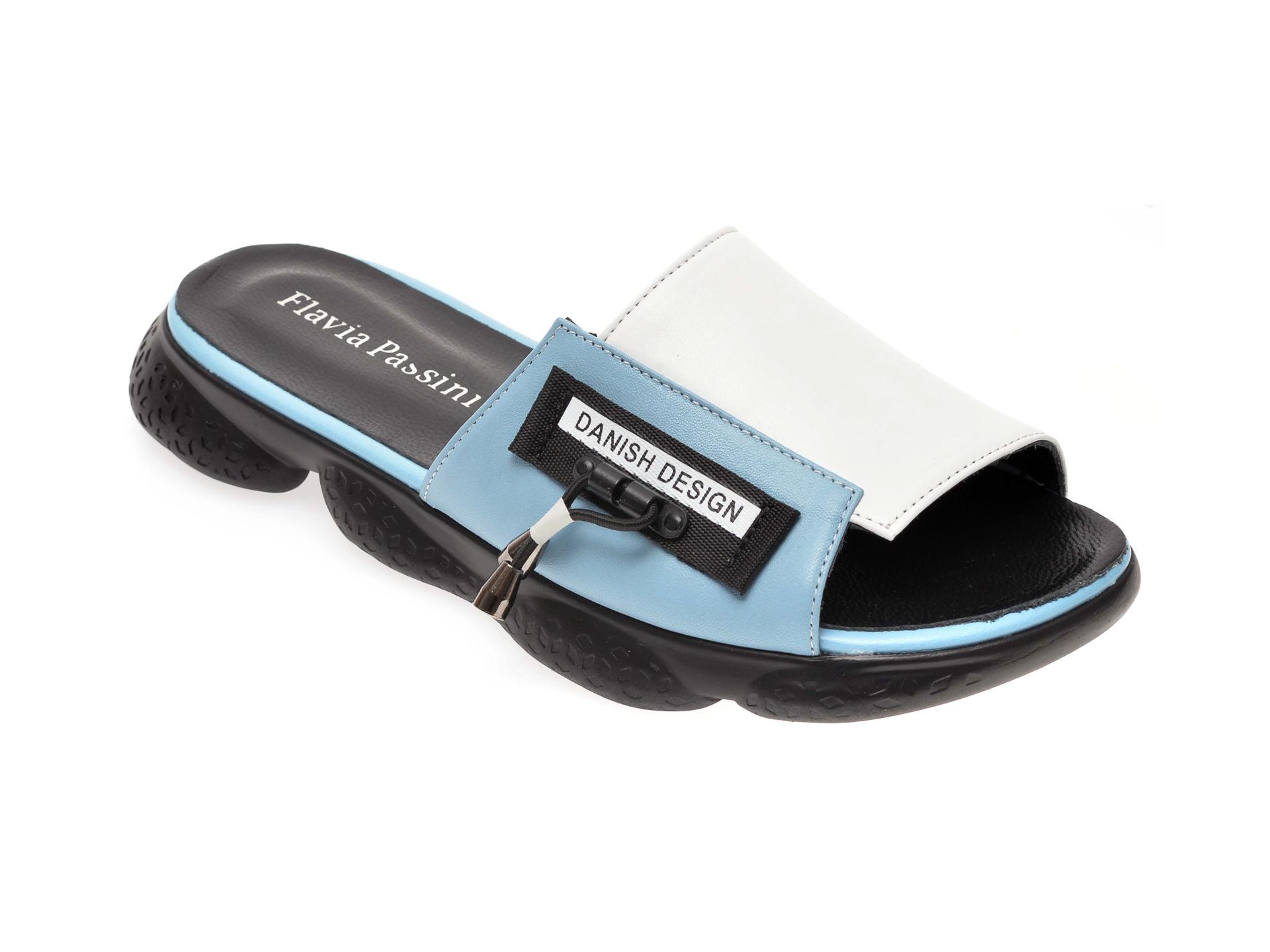 Papuci FLAVIA PASSINI albastri, 8285356, din piele naturala