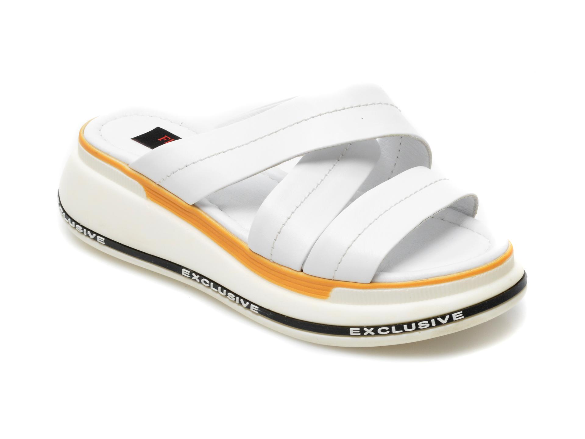 Papuci FLAVIA PASSINI albi, 2385, din piele naturala imagine 2021 Flavia Passini