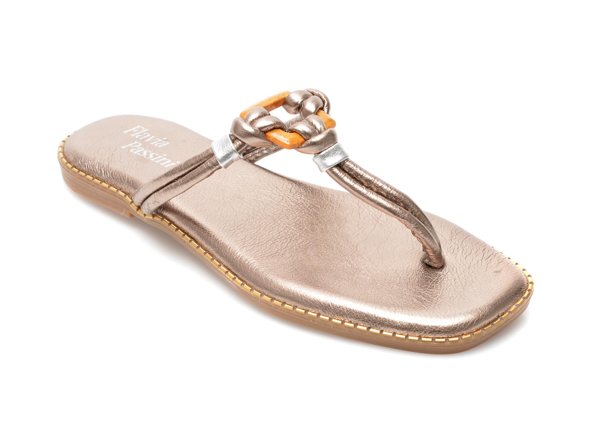 Papuci FLAVIA PASSINI argintii, 3016, din piele naturala imagine otter.ro 2021