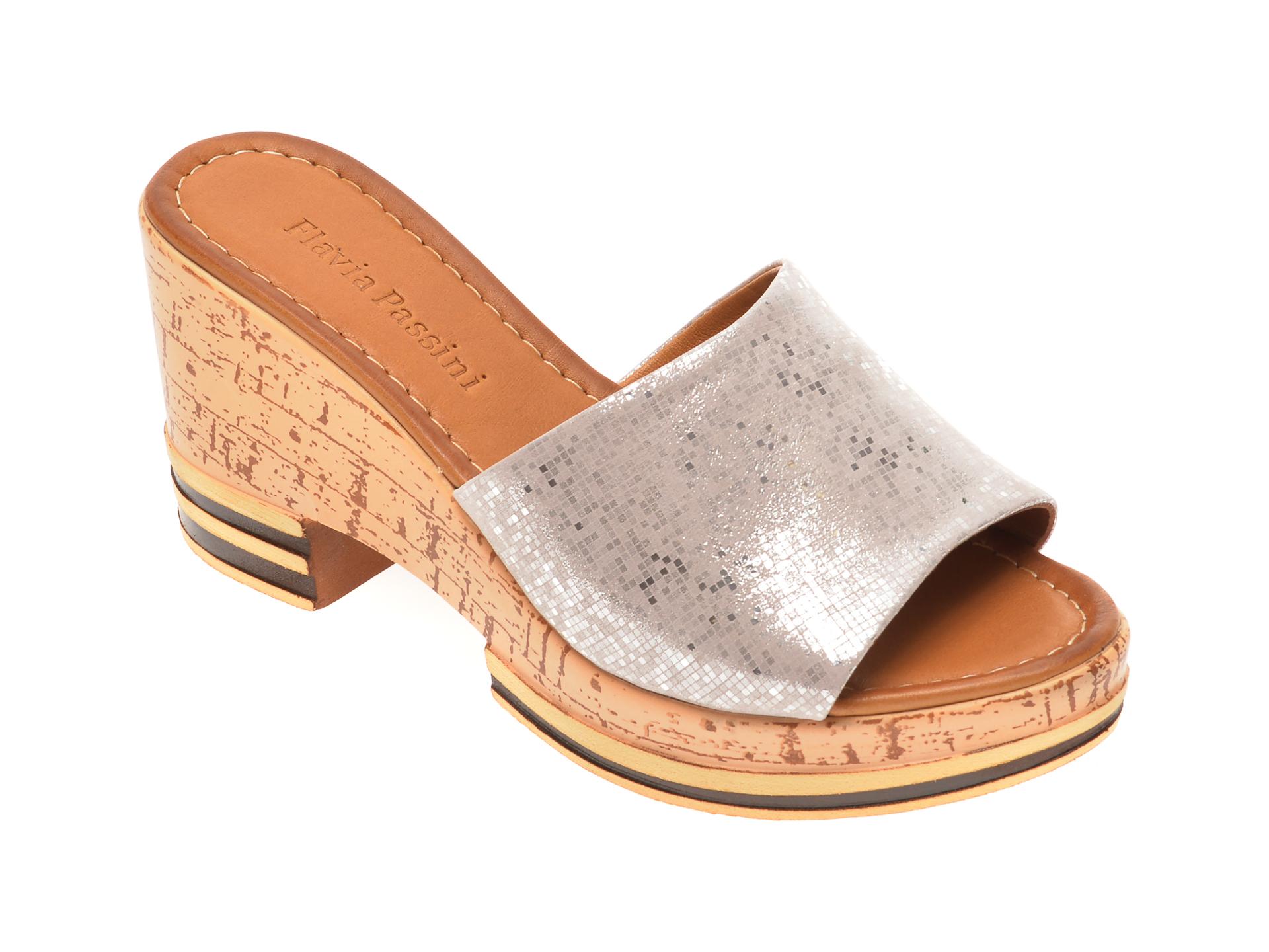 Papuci FLAVIA PASSINI bej, 1182726, din piele naturala