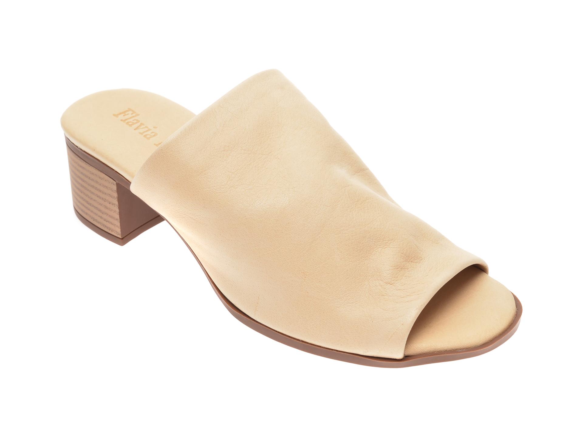 Papuci FLAVIA PASSINI bej, 426700, din piele naturala