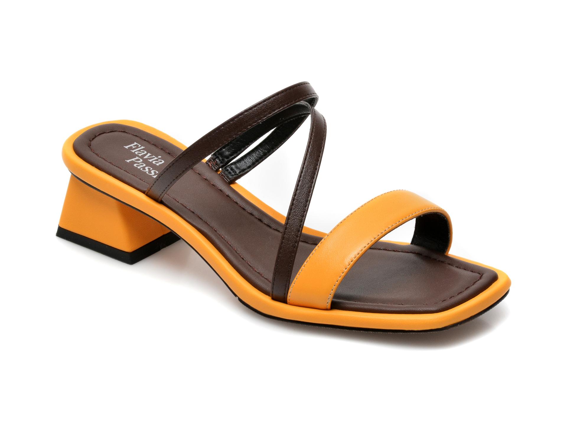 Papuci FLAVIA PASSINI galbeni, 1211317, din piele ecologica imagine otter.ro 2021