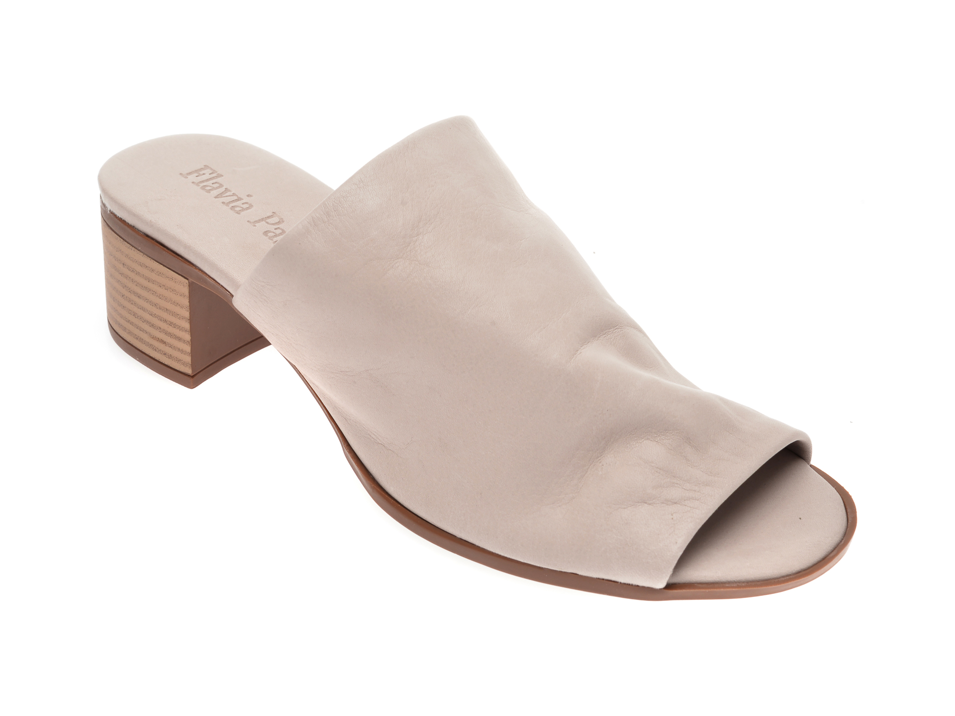 Papuci FLAVIA PASSINI gri, 426700, din piele naturala