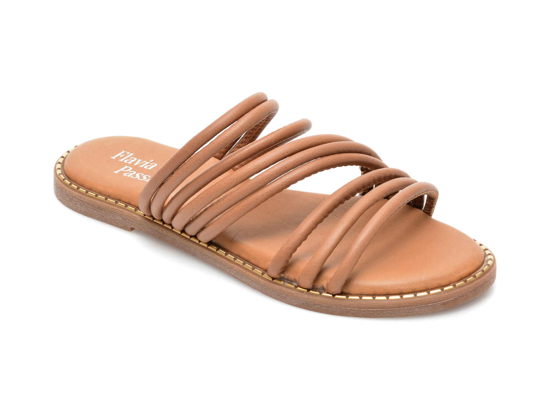 Papuci FLAVIA PASSINI maro, 3044, din piele naturala imagine otter.ro 2021
