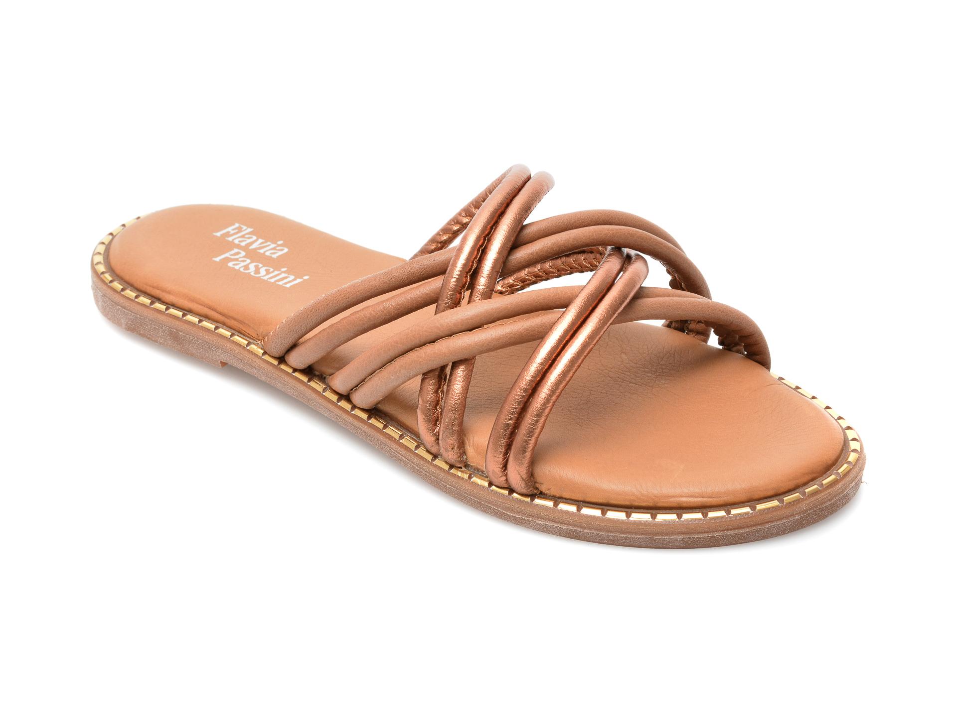 Papuci FLAVIA PASSINI maro, 3098, din piele naturala imagine otter.ro 2021