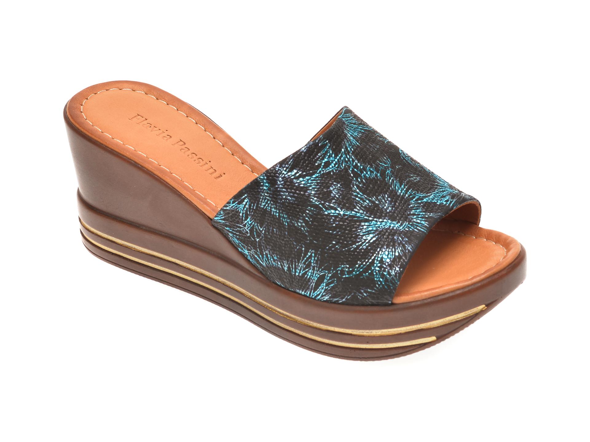 Papuci FLAVIA PASSINI negri, 1181513, din piele naturala