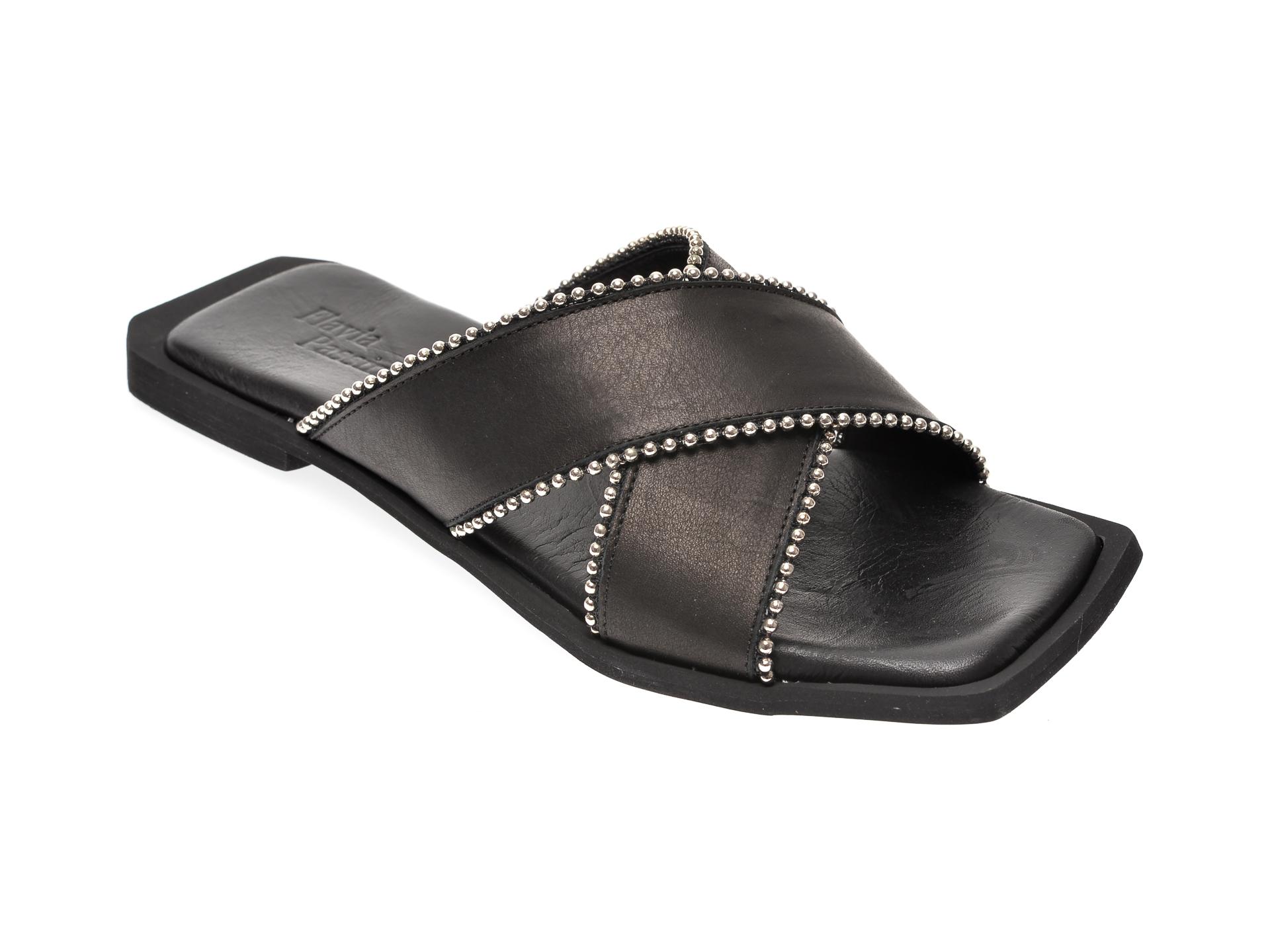 Papuci FLAVIA PASSINI negri, 799, din piele naturala
