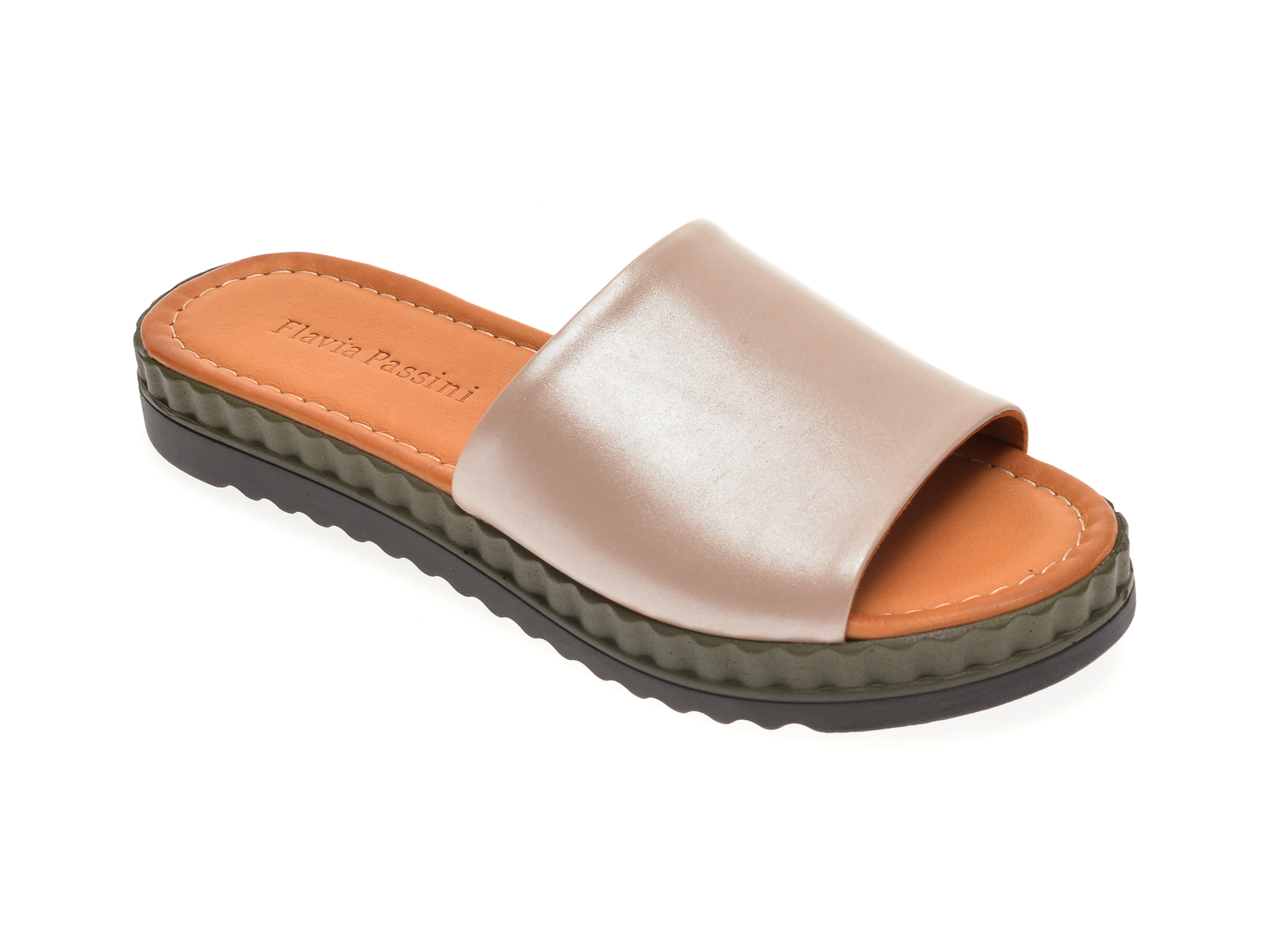 Papuci FLAVIA PASSINI nude, 1182104, din piele naturala