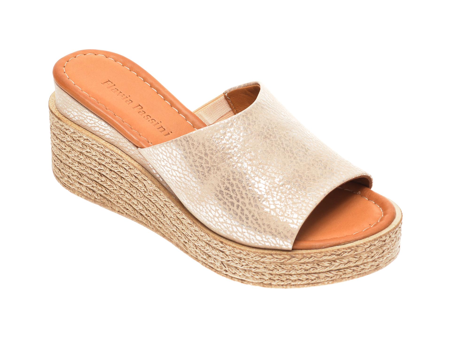 Papuci FLAVIA PASSINI nude, 1182726, din piele naturala
