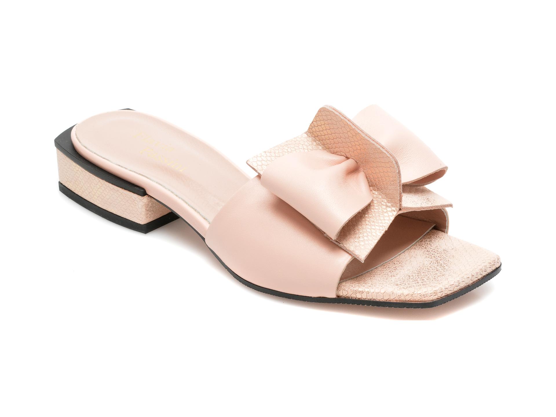 Papuci FLAVIA PASSINI nude, 207927, din piele naturala imagine 2021 Flavia Passini