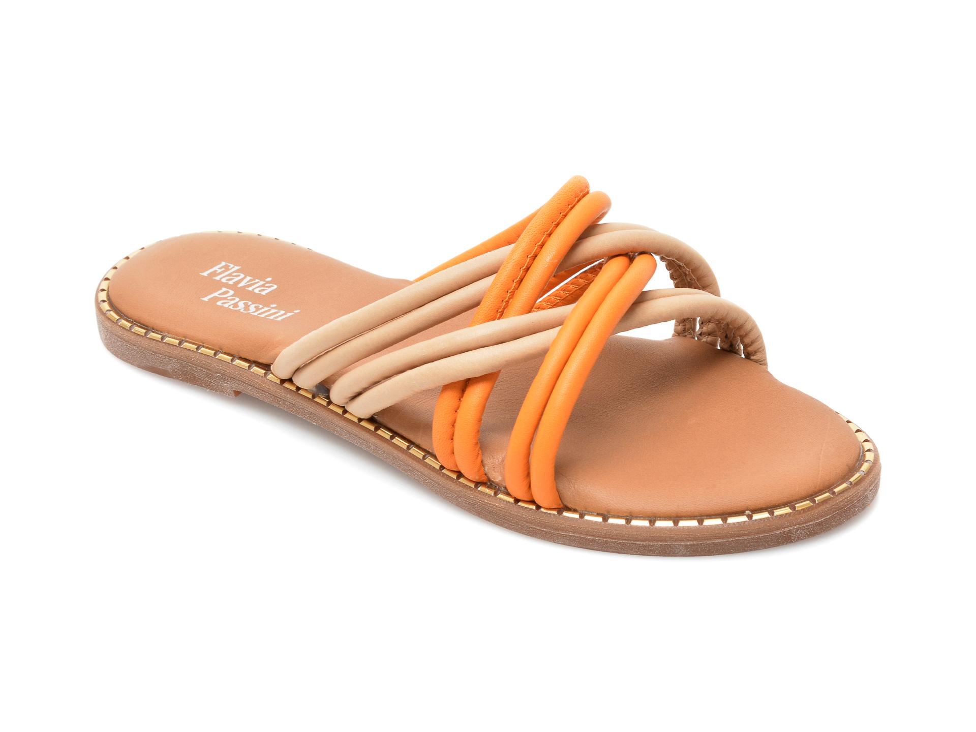 Papuci FLAVIA PASSINI nude, 3098, din piele naturala imagine otter.ro 2021