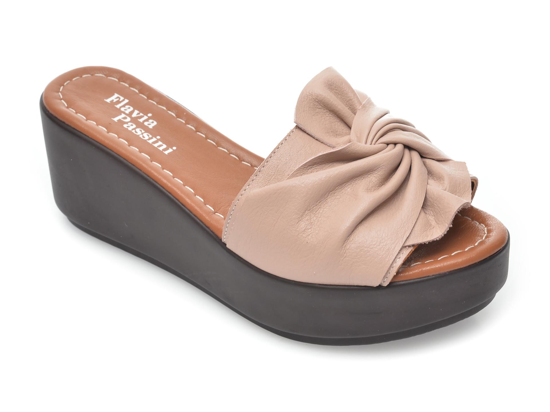 Papuci FLAVIA PASSINI nude, 810, din piele naturala imagine otter.ro