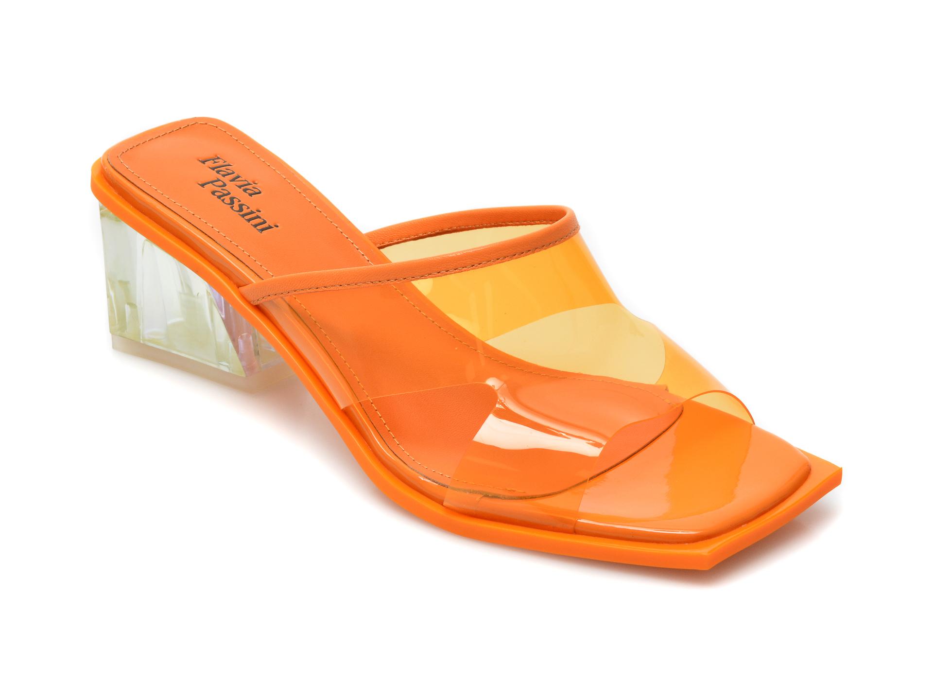Papuci FLAVIA PASSINI portocalii, LD41RT2, din pvc imagine otter.ro 2021